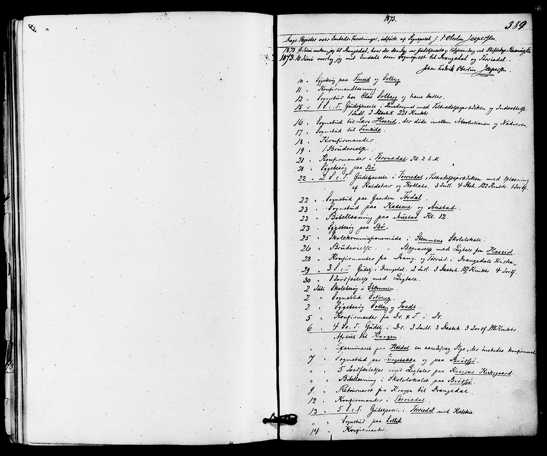 SAKO, Drangedal kirkebøker, F/Fa/L0009: Ministerialbok nr. 9 /1, 1872-1884, s. 389