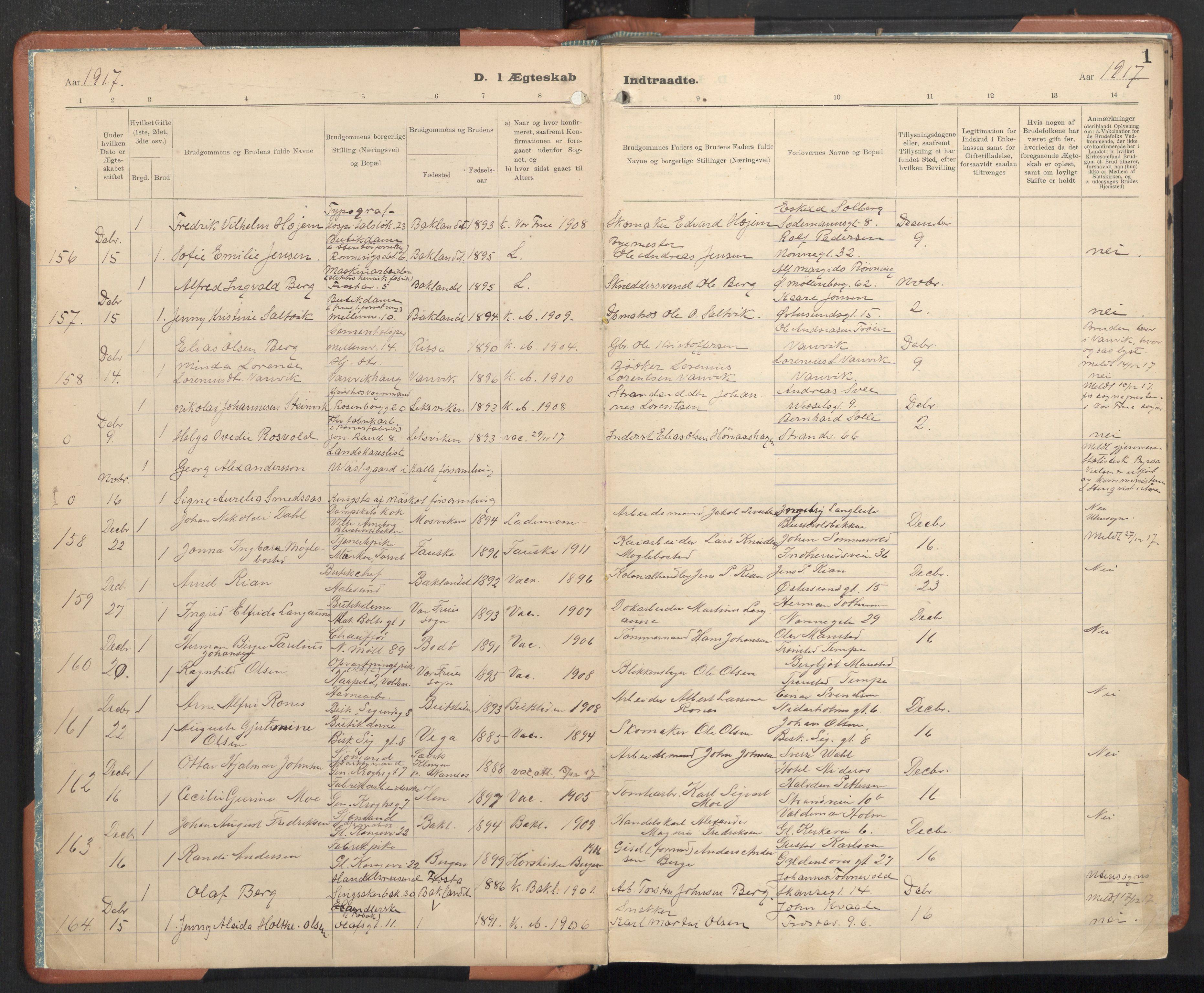 SAT, Ministerialprotokoller, klokkerbøker og fødselsregistre - Sør-Trøndelag, 605/L0245: Ministerialbok nr. 605A07, 1916-1938, s. 1