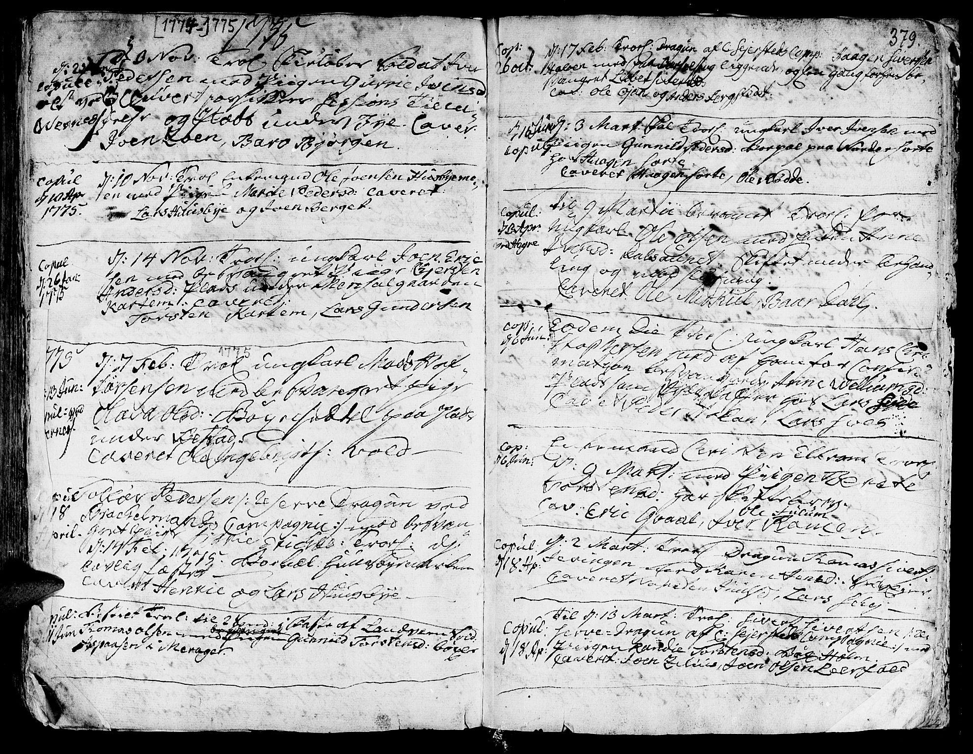 SAT, Ministerialprotokoller, klokkerbøker og fødselsregistre - Nord-Trøndelag, 709/L0057: Ministerialbok nr. 709A05, 1755-1780, s. 379