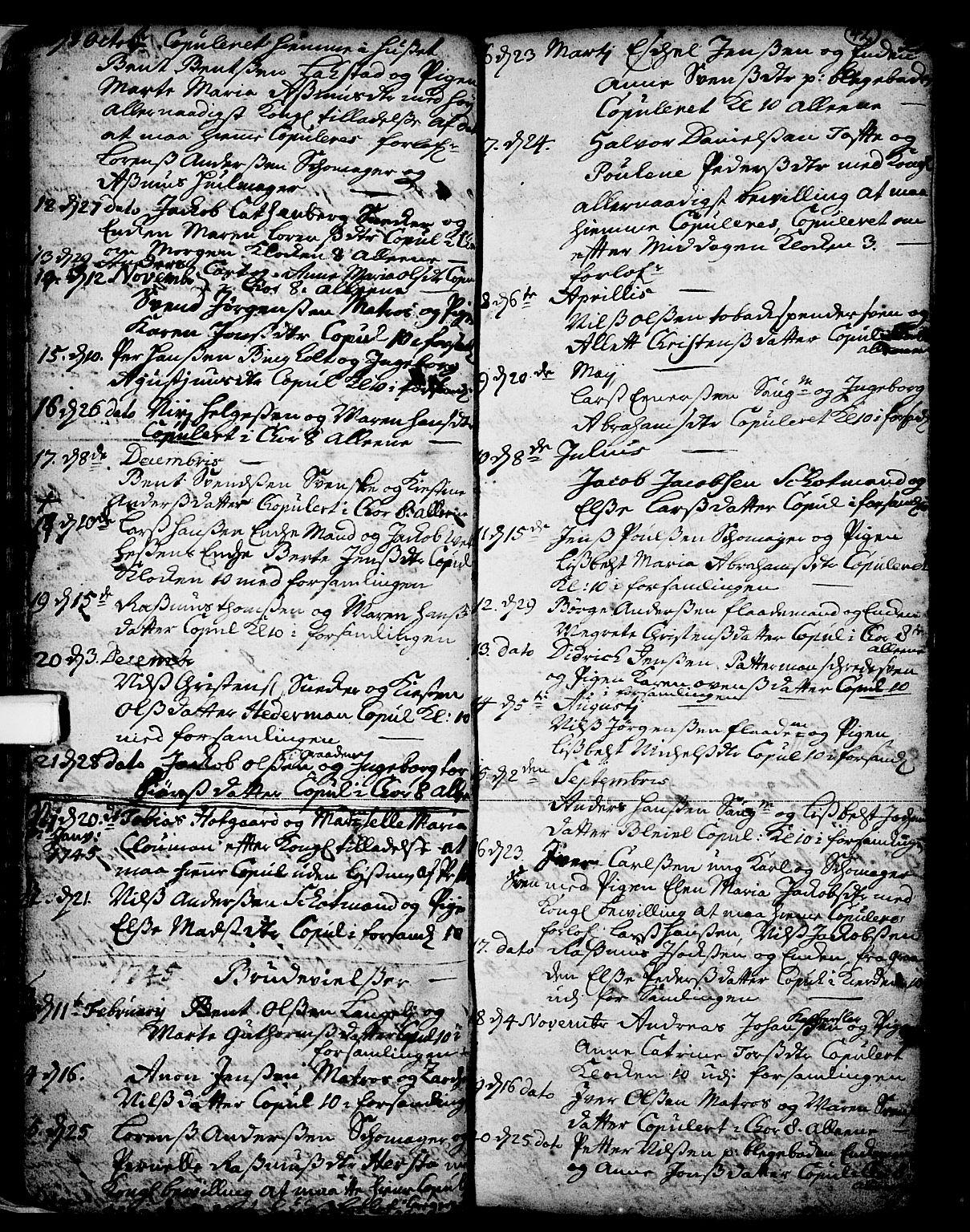 SAKO, Skien kirkebøker, F/Fa/L0002: Ministerialbok nr. 2, 1716-1757, s. 42