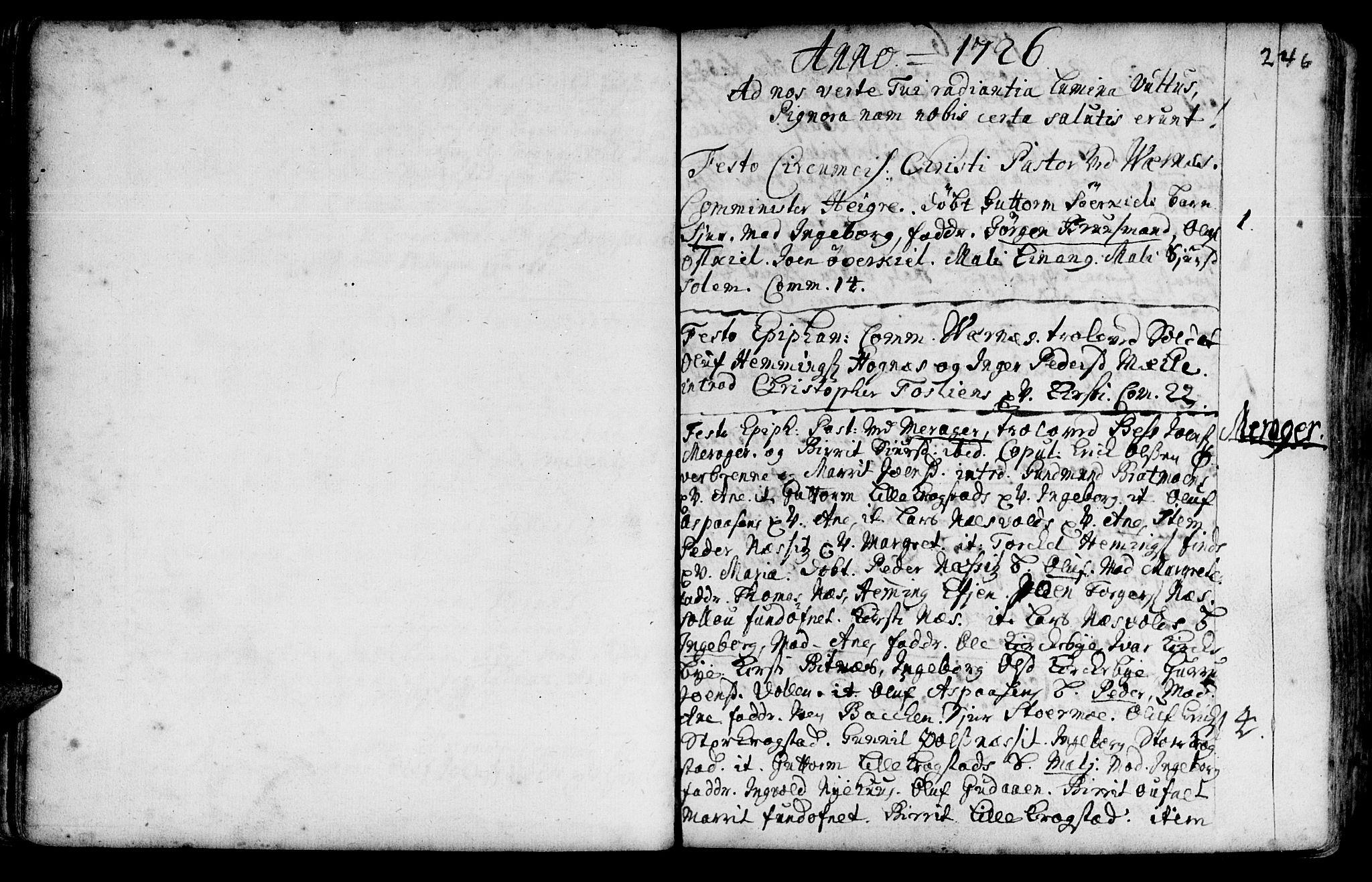 SAT, Ministerialprotokoller, klokkerbøker og fødselsregistre - Nord-Trøndelag, 709/L0054: Ministerialbok nr. 709A02, 1714-1738, s. 245-246
