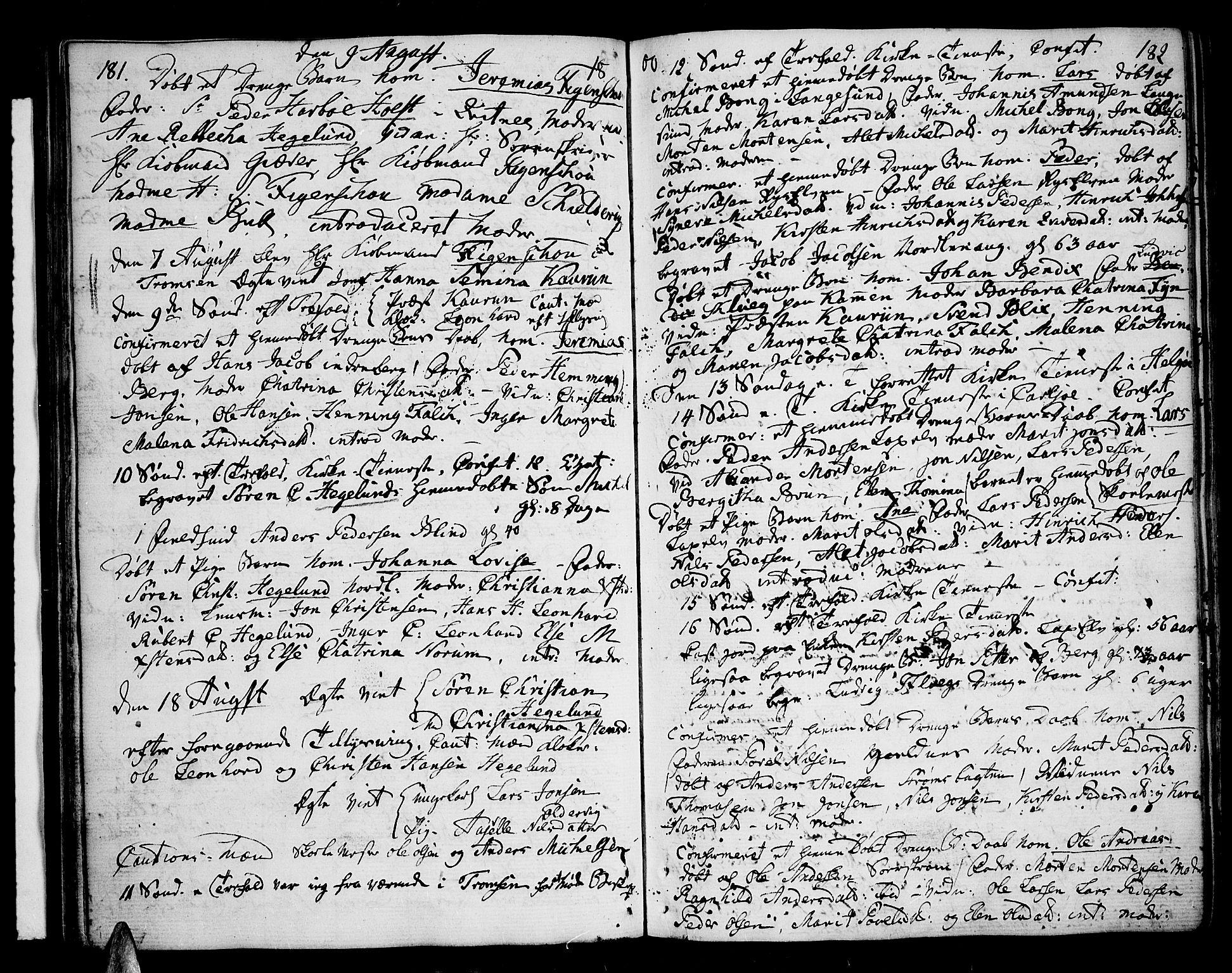 SATØ, Karlsøy sokneprestembete, Ministerialbok nr. 1, 1775-1823, s. 181-182
