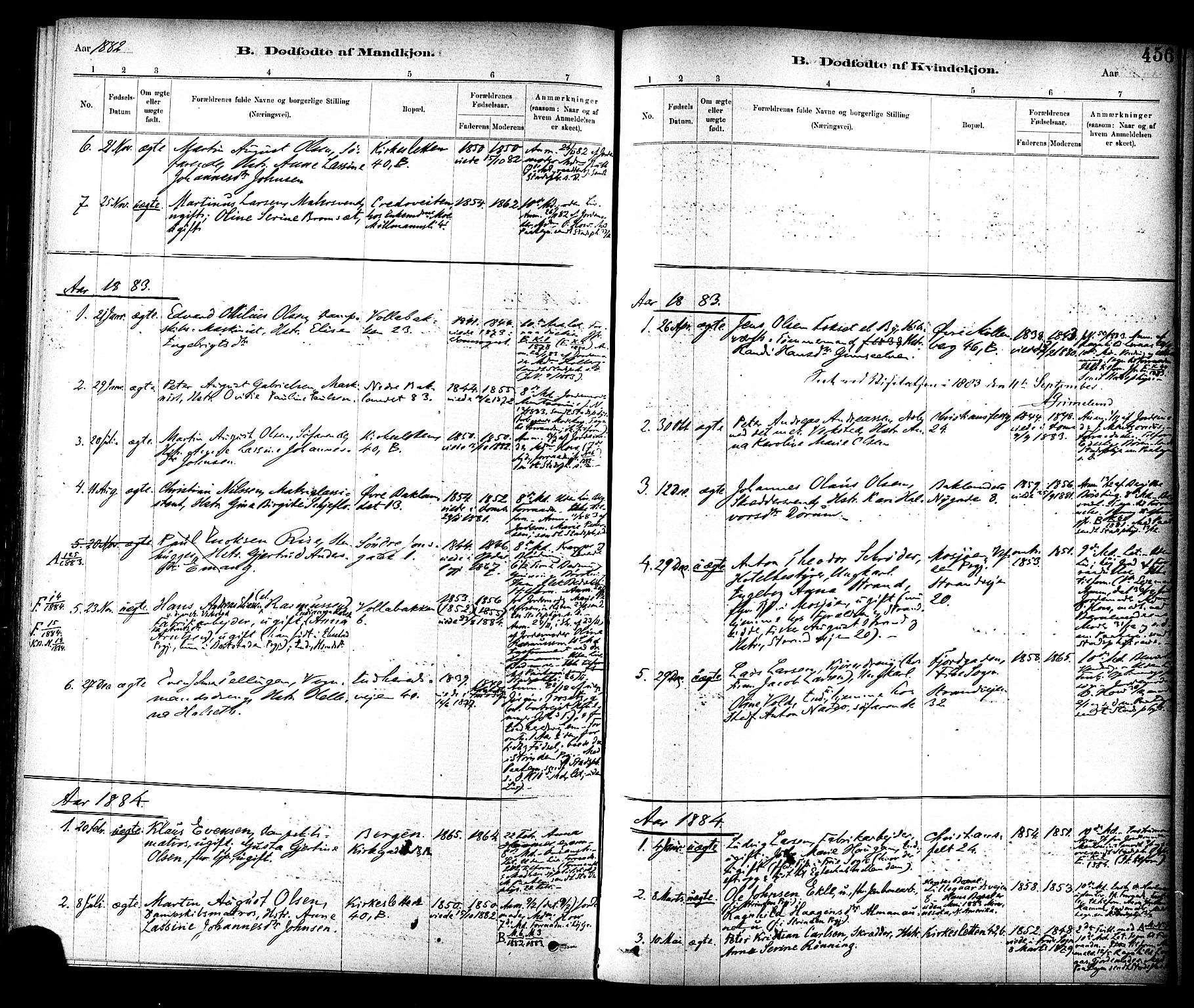 SAT, Ministerialprotokoller, klokkerbøker og fødselsregistre - Sør-Trøndelag, 604/L0188: Ministerialbok nr. 604A09, 1878-1892, s. 456
