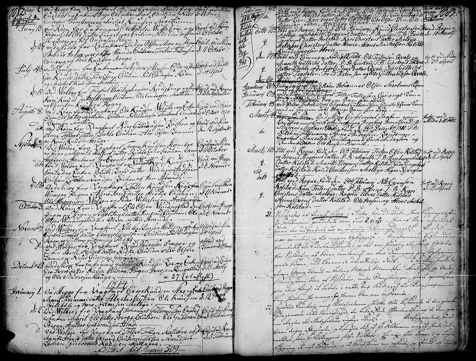 SAH, Slidre prestekontor, Ministerialbok nr. 1, 1724-1814, s. 1082-1083