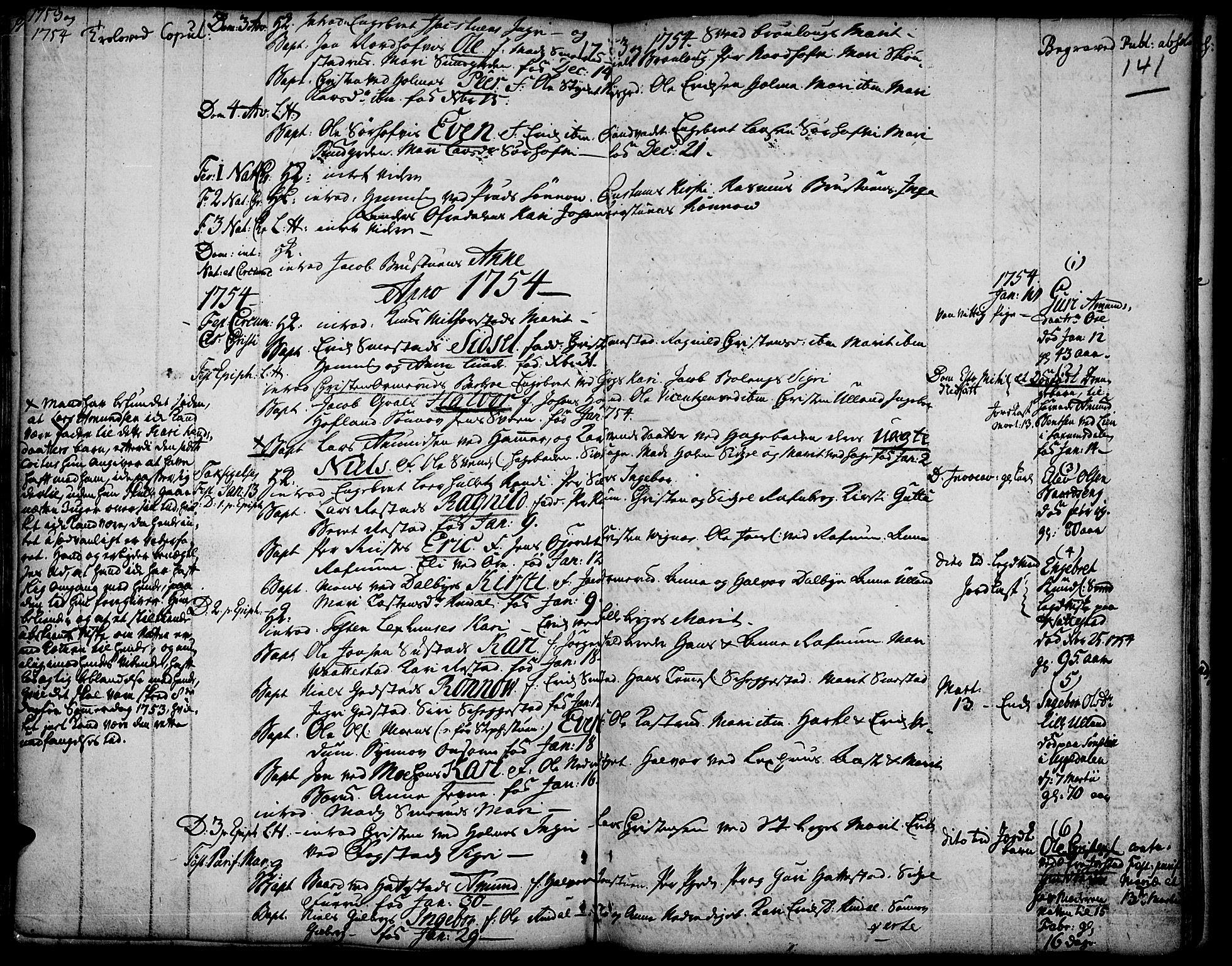 SAH, Fåberg prestekontor, Ministerialbok nr. 1, 1727-1775, s. 141