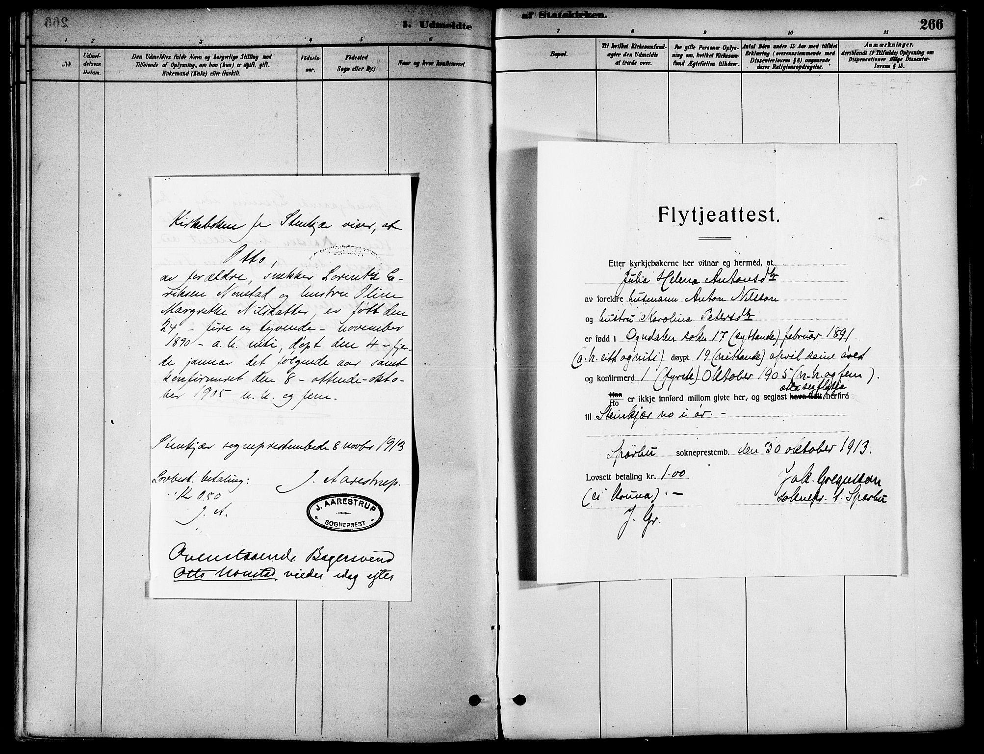 SAT, Ministerialprotokoller, klokkerbøker og fødselsregistre - Nord-Trøndelag, 739/L0371: Ministerialbok nr. 739A03, 1881-1895, s. 266