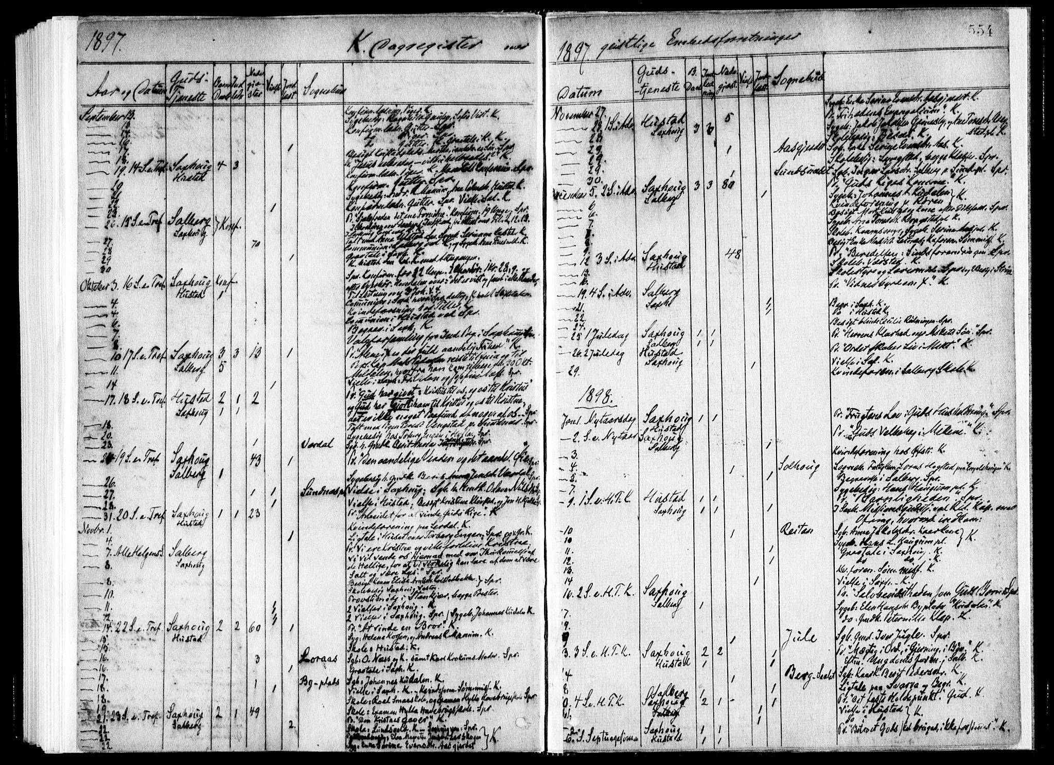 SAT, Ministerialprotokoller, klokkerbøker og fødselsregistre - Nord-Trøndelag, 730/L0285: Ministerialbok nr. 730A10, 1879-1914, s. 554