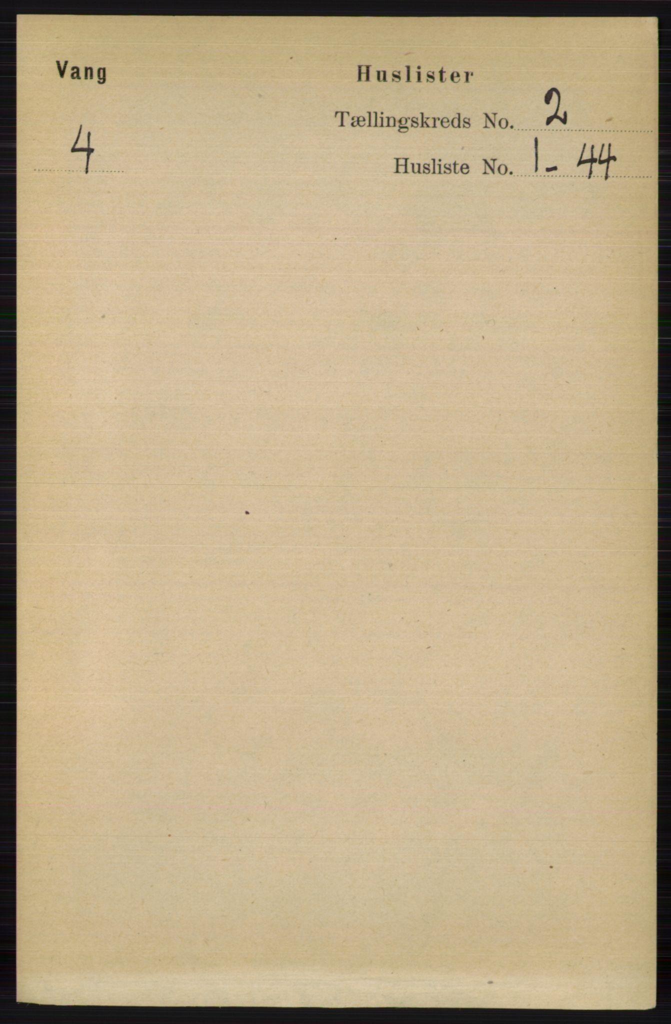 RA, Folketelling 1891 for 0545 Vang herred, 1891, s. 347
