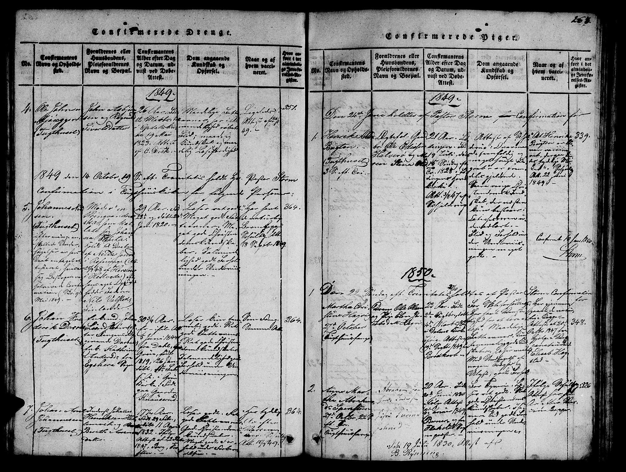 SAT, Ministerialprotokoller, klokkerbøker og fødselsregistre - Sør-Trøndelag, 623/L0478: Klokkerbok nr. 623C01, 1815-1873, s. 263