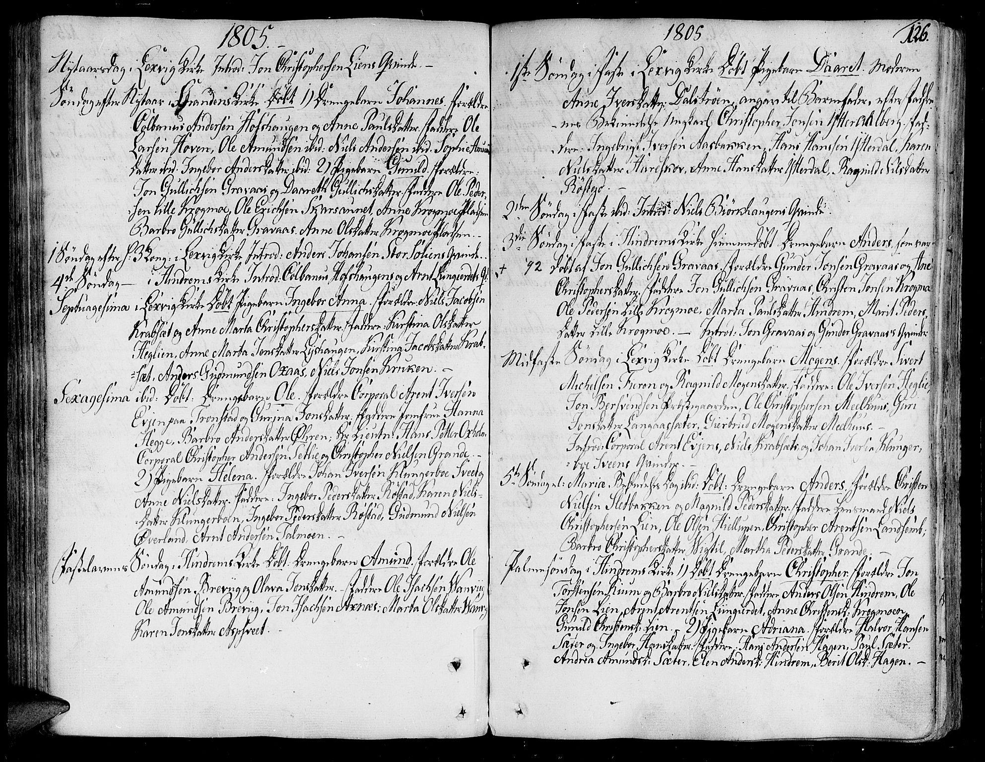 SAT, Ministerialprotokoller, klokkerbøker og fødselsregistre - Nord-Trøndelag, 701/L0004: Ministerialbok nr. 701A04, 1783-1816, s. 126