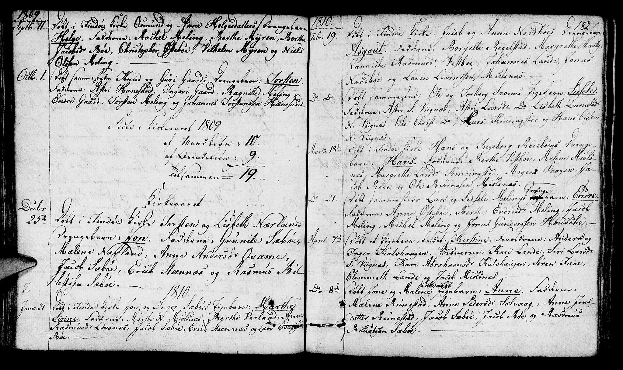 SAST, Finnøy sokneprestkontor, H/Ha/Haa/L0005: Ministerialbok nr. A 5, 1773-1816, s. 182