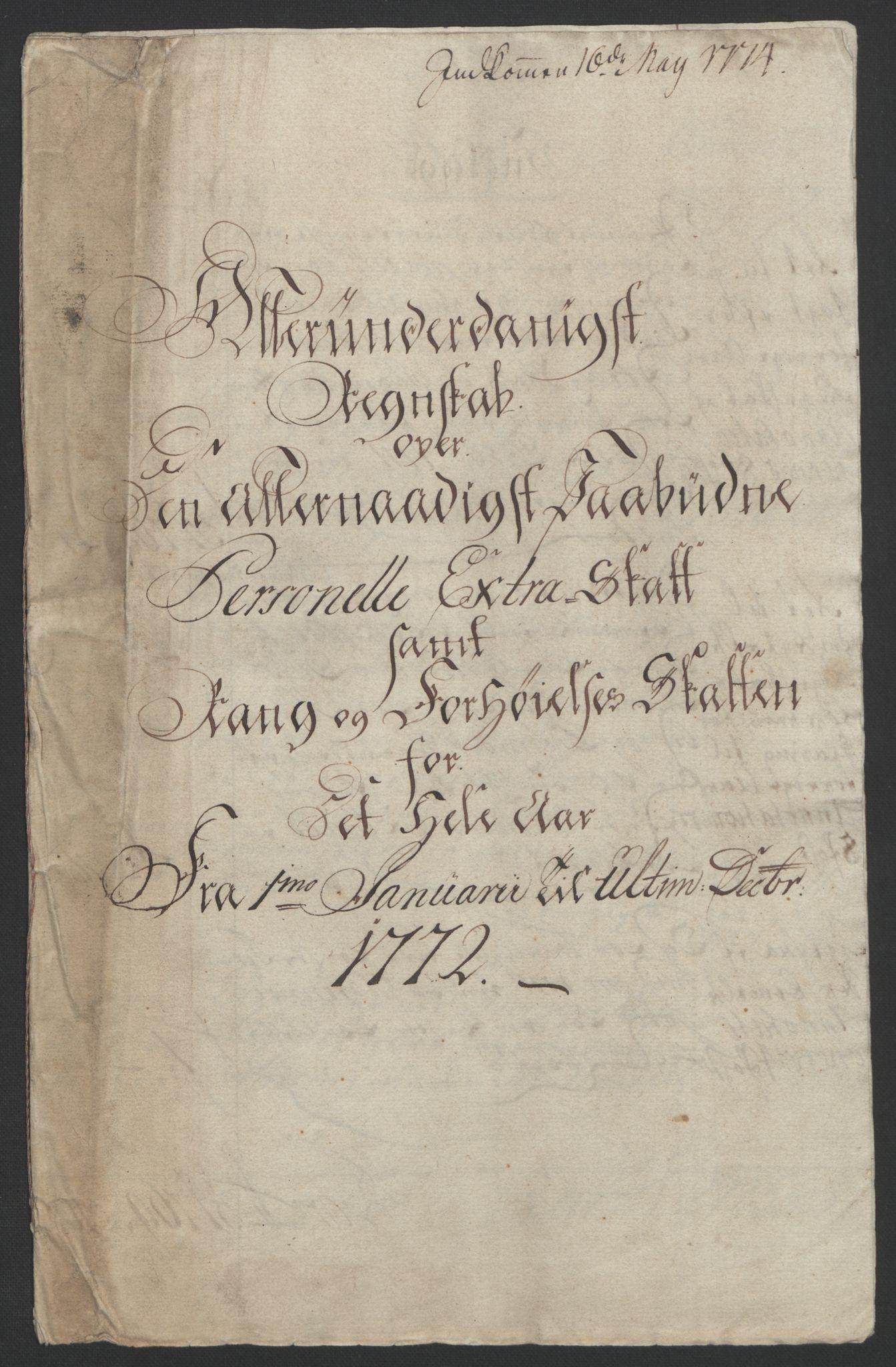 RA, Rentekammeret inntil 1814, Reviderte regnskaper, Fogderegnskap, R65/L4573: Ekstraskatten Helgeland, 1762-1772, s. 399