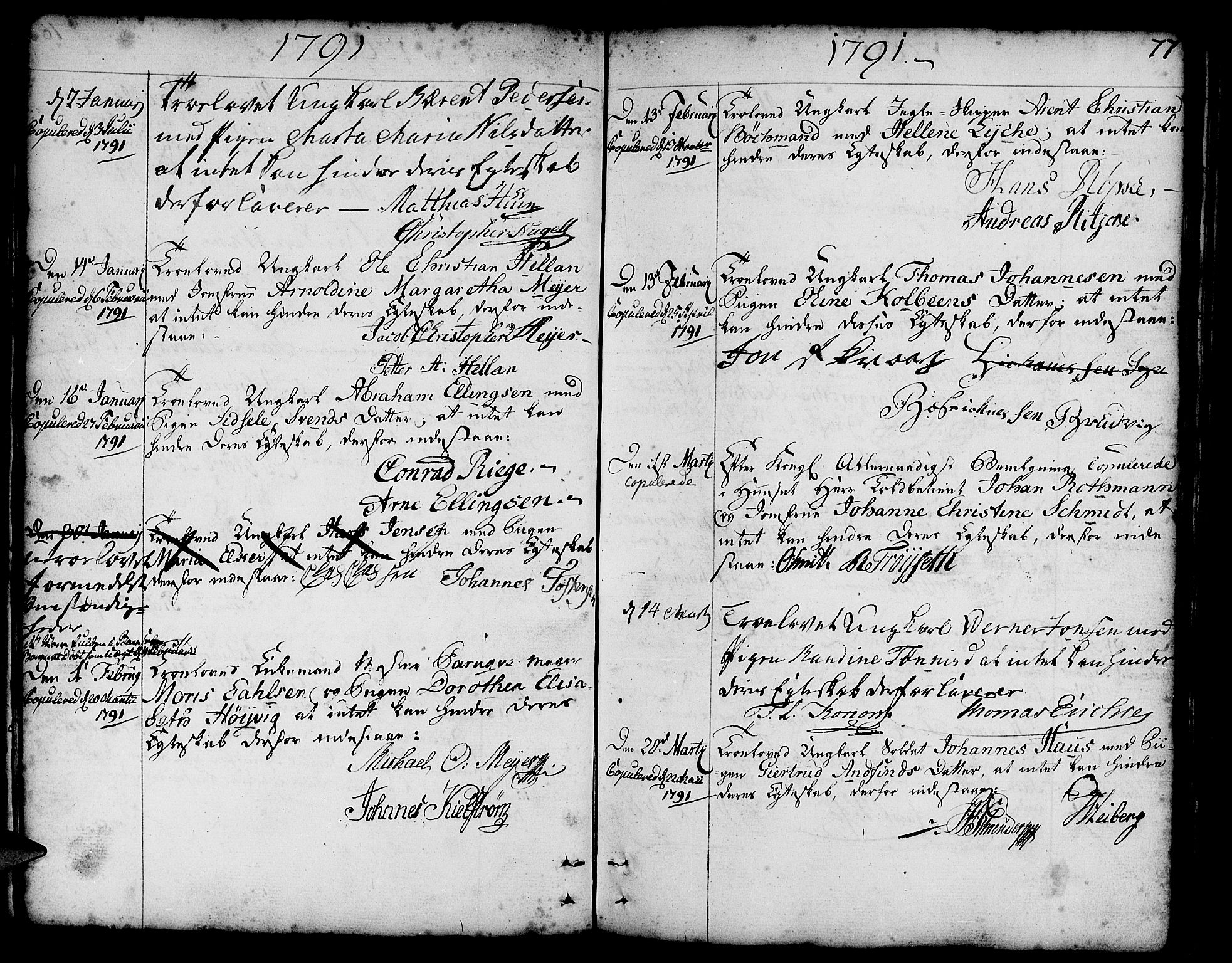 SAB, Nykirken Sokneprestembete, H/Haa: Ministerialbok nr. A 8, 1776-1814, s. 77