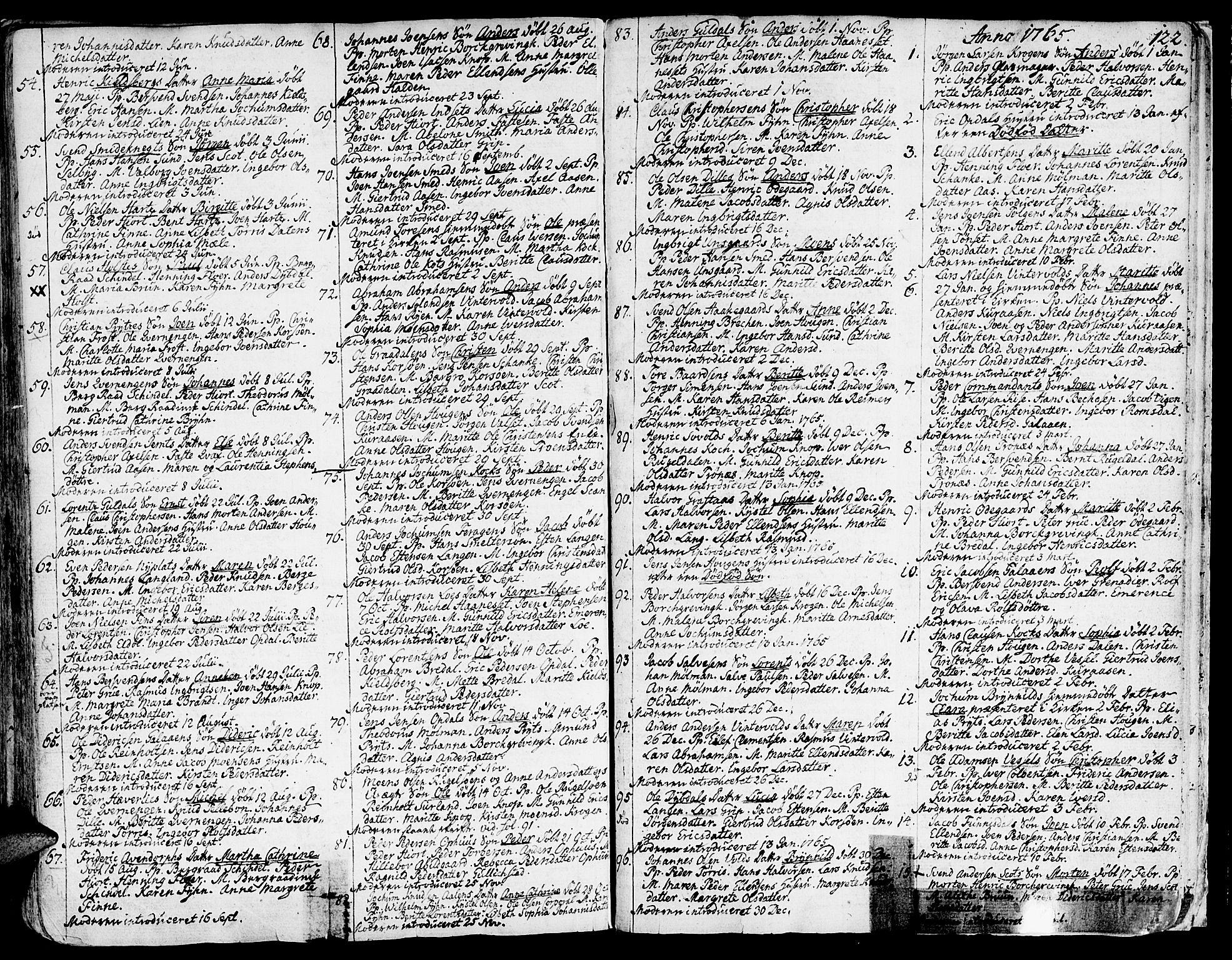 SAT, Ministerialprotokoller, klokkerbøker og fødselsregistre - Sør-Trøndelag, 681/L0925: Ministerialbok nr. 681A03, 1727-1766, s. 122