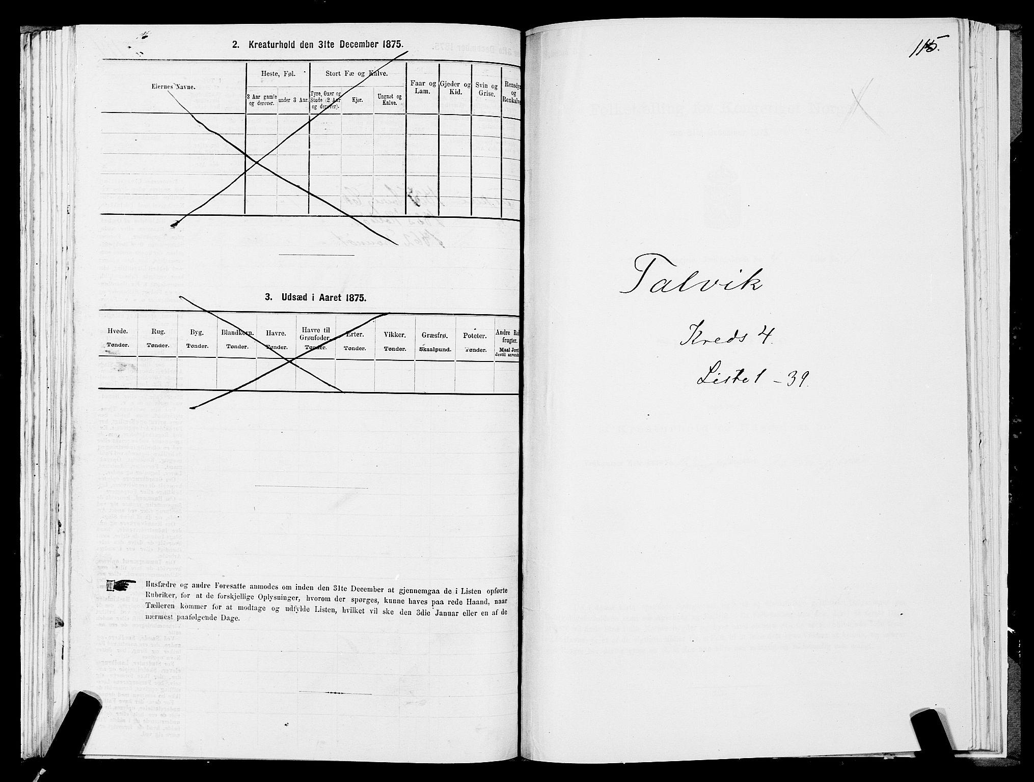SATØ, Folketelling 1875 for 2013P Talvik prestegjeld, 1875, s. 2115