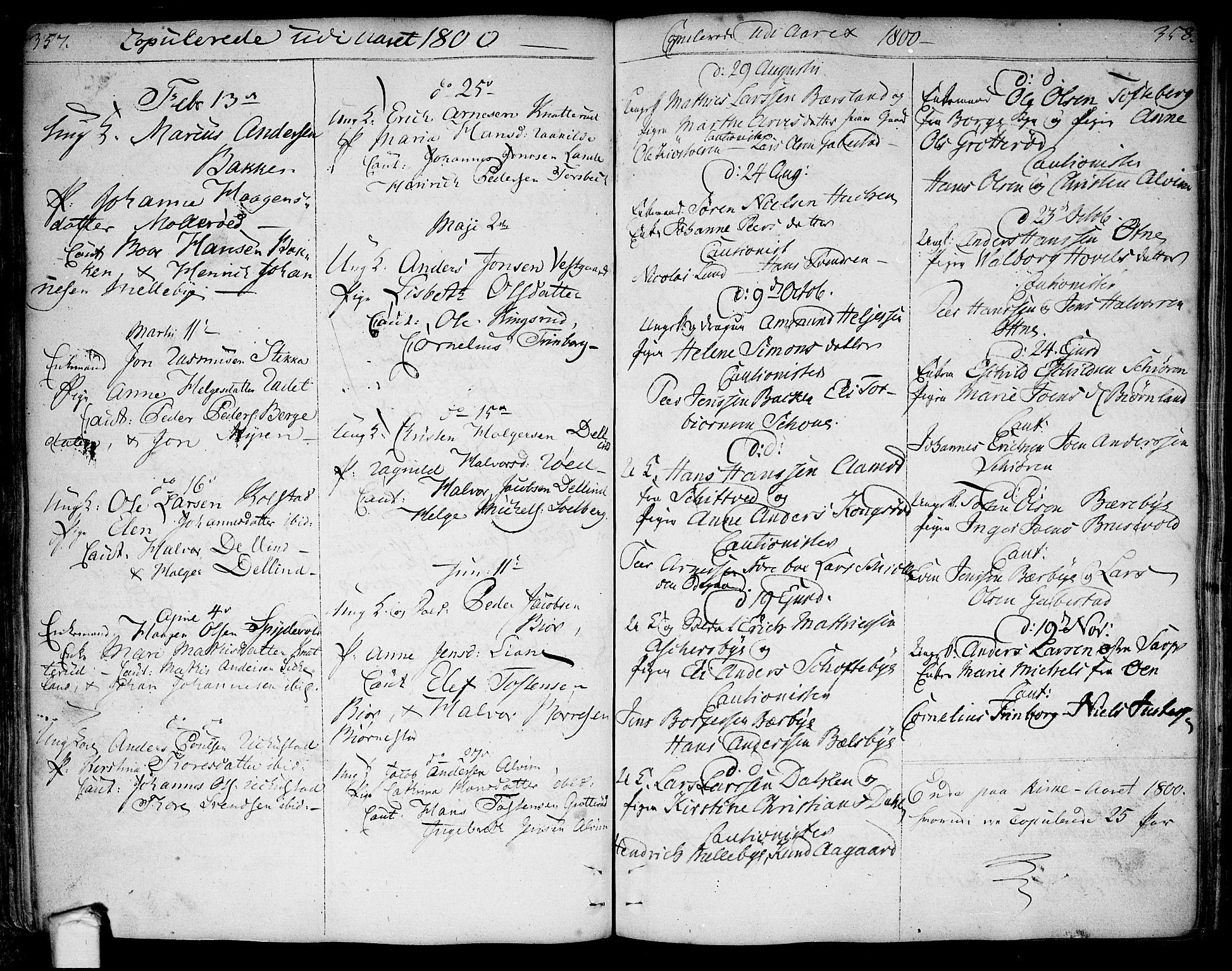 SAO, Tune prestekontor Kirkebøker, F/Fa/L0004: Ministerialbok nr. 4, 1797-1815, s. 357-358