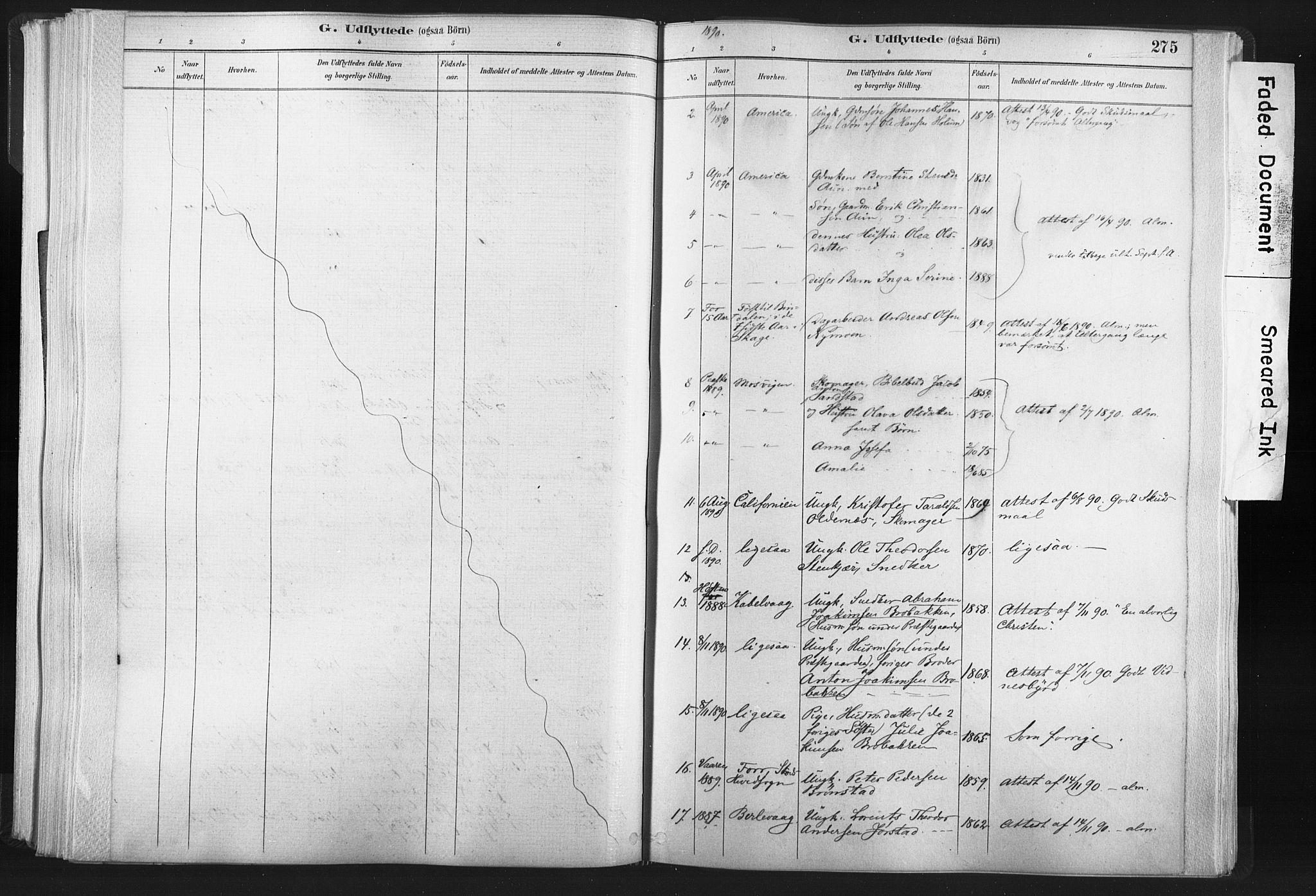 SAT, Ministerialprotokoller, klokkerbøker og fødselsregistre - Nord-Trøndelag, 749/L0474: Ministerialbok nr. 749A08, 1887-1903, s. 275
