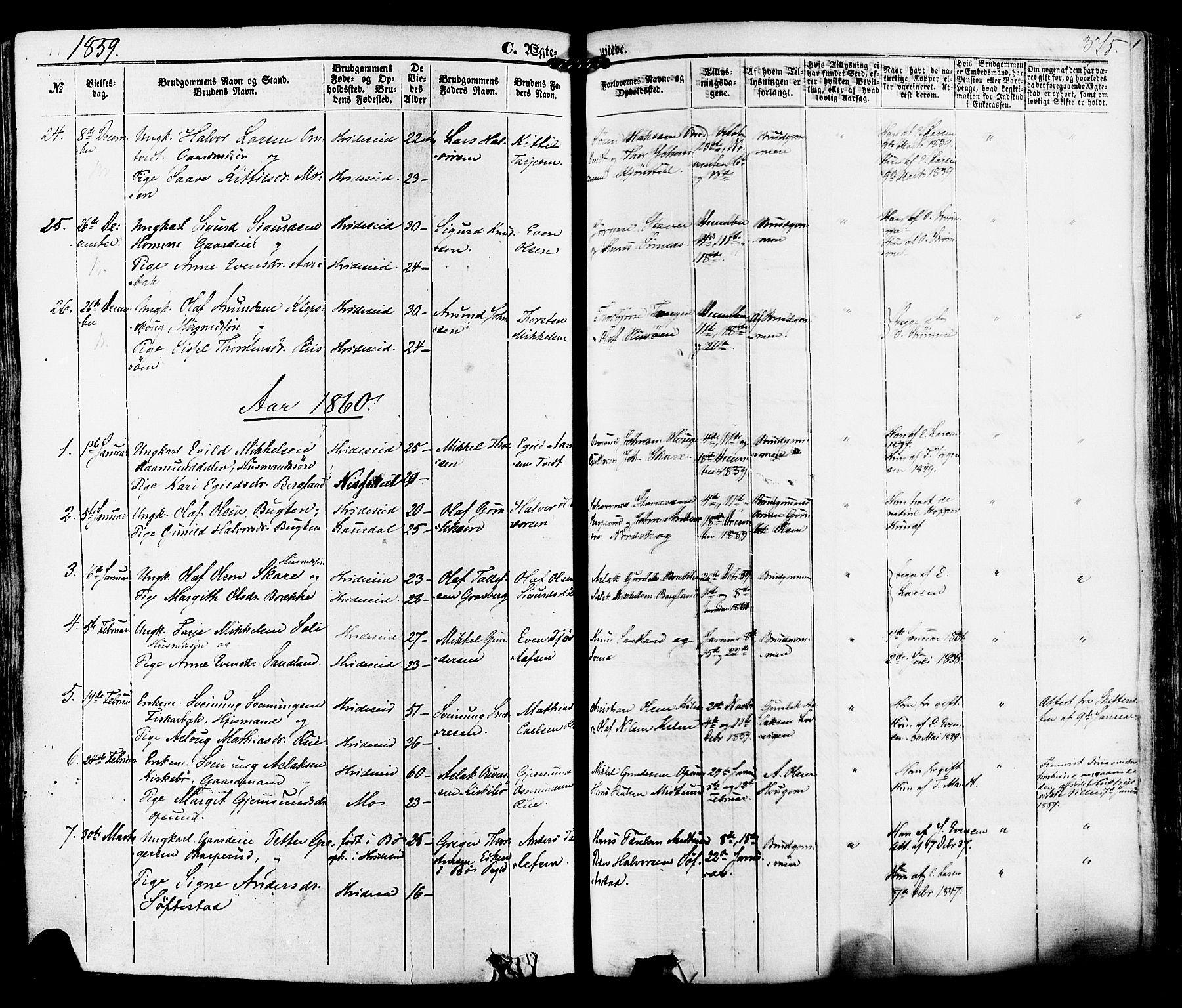 SAKO, Kviteseid kirkebøker, F/Fa/L0007: Ministerialbok nr. I 7, 1859-1881, s. 375