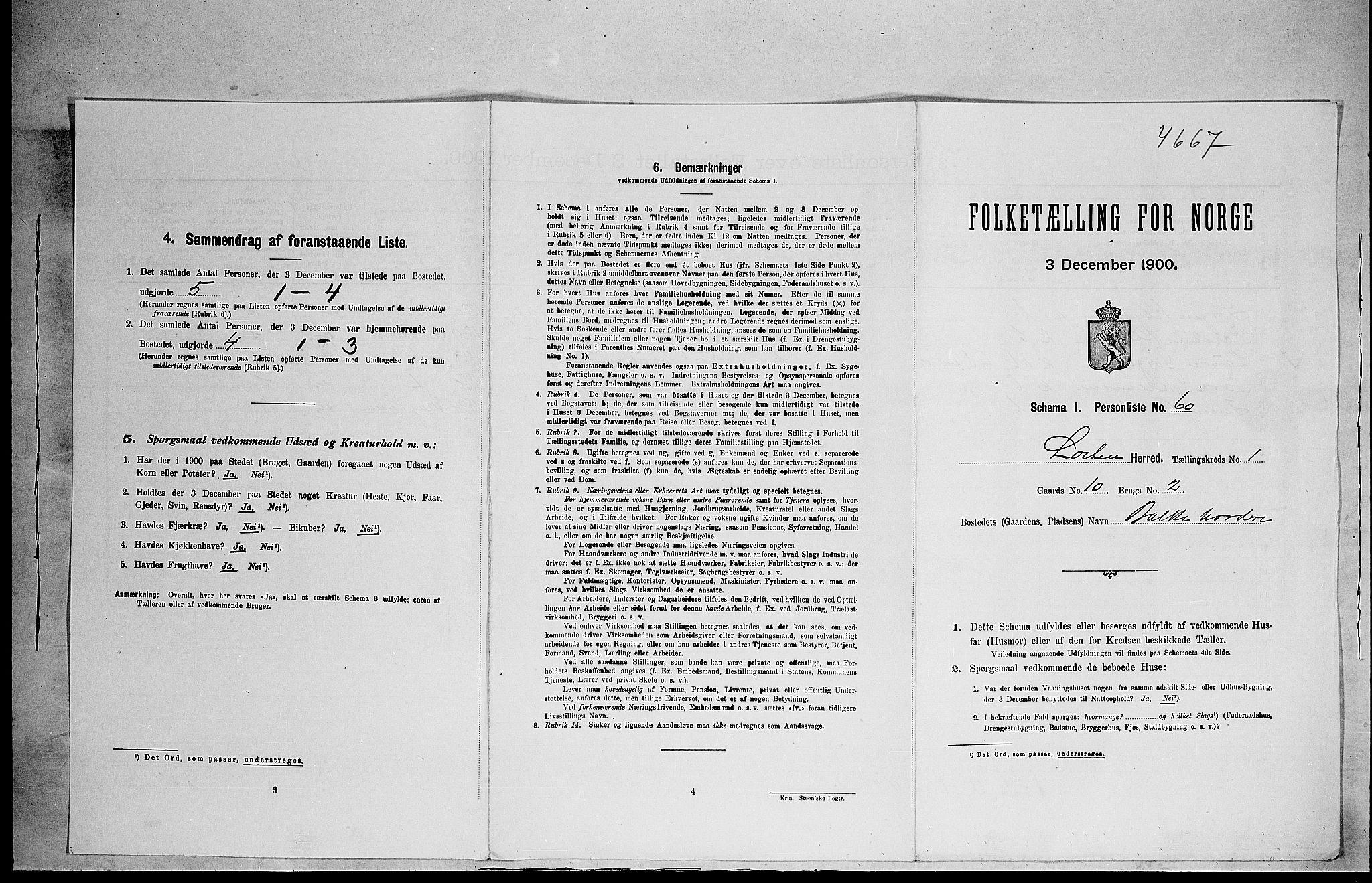 SAH, Folketelling 1900 for 0415 Løten herred, 1900, s. 268