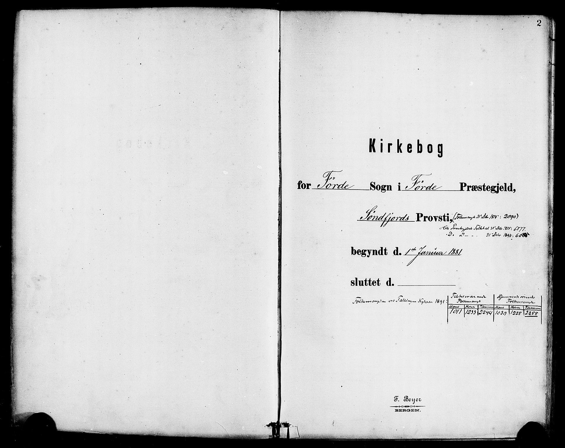 SAB, Førde Sokneprestembete, H/Haa: Ministerialbok nr. B 1, 1880-1898, s. 2