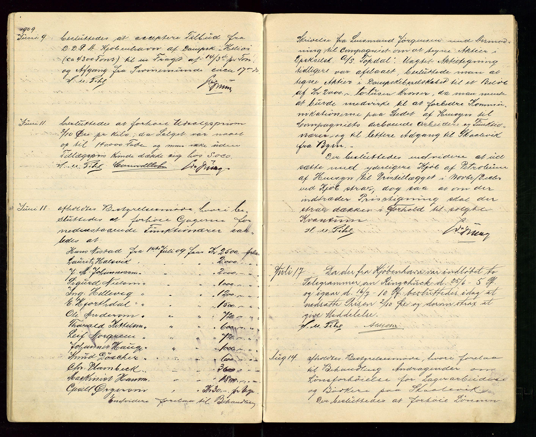 SAST, PA 1533 - A/S Vestlandske Petroleumscompani, A/Aa/L0001: Generalforsamlinger og styreprotokoller, 1907-1915, s. 22