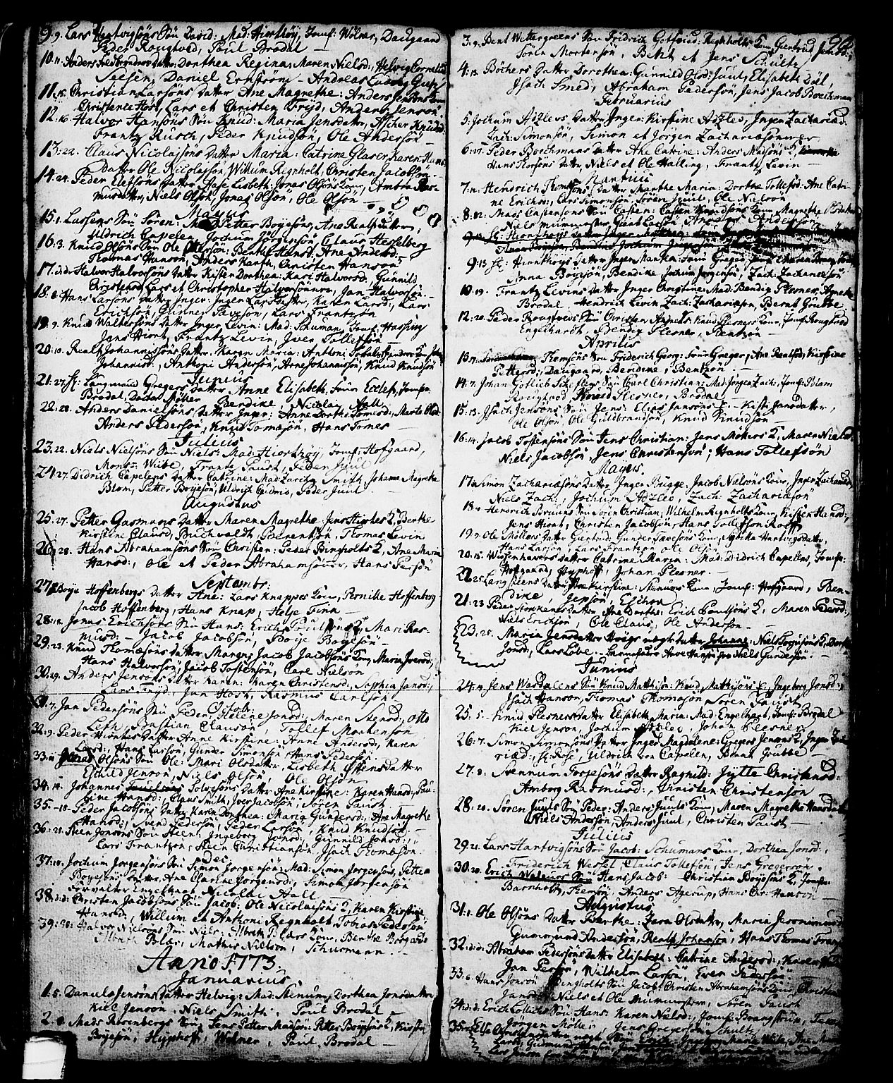 SAKO, Skien kirkebøker, G/Ga/L0001: Klokkerbok nr. 1, 1756-1791, s. 90