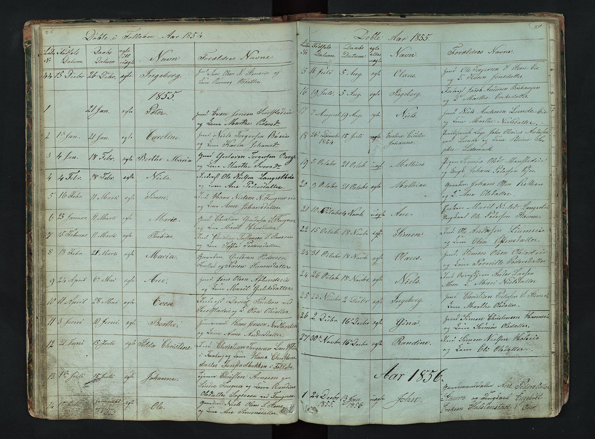 SAH, Gausdal prestekontor, Klokkerbok nr. 6, 1846-1893, s. 88-89