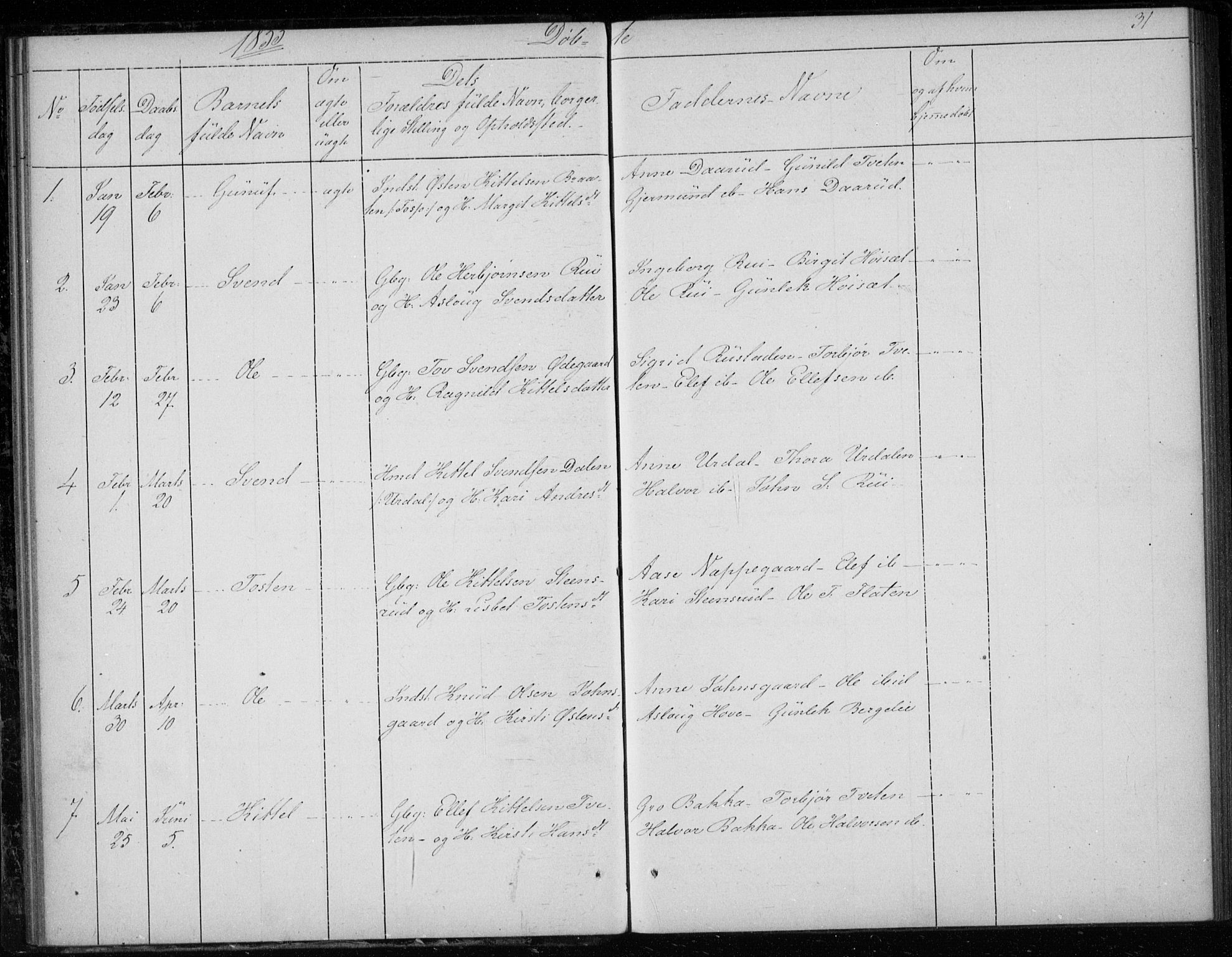 SAKO, Gransherad kirkebøker, F/Fb/L0003: Ministerialbok nr. II 3, 1844-1859, s. 31