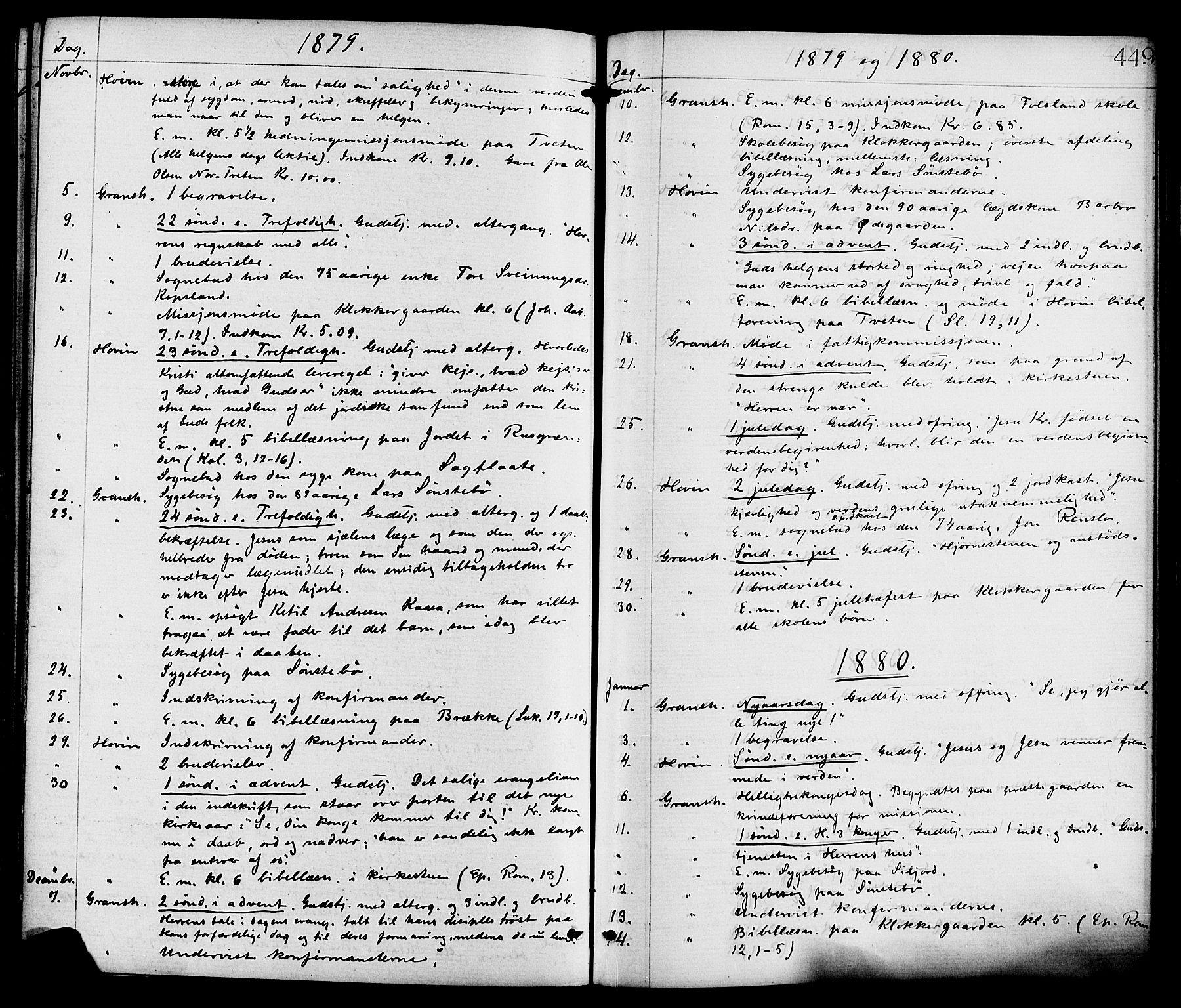 SAKO, Gransherad kirkebøker, F/Fa/L0004: Ministerialbok nr. I 4, 1871-1886, s. 449