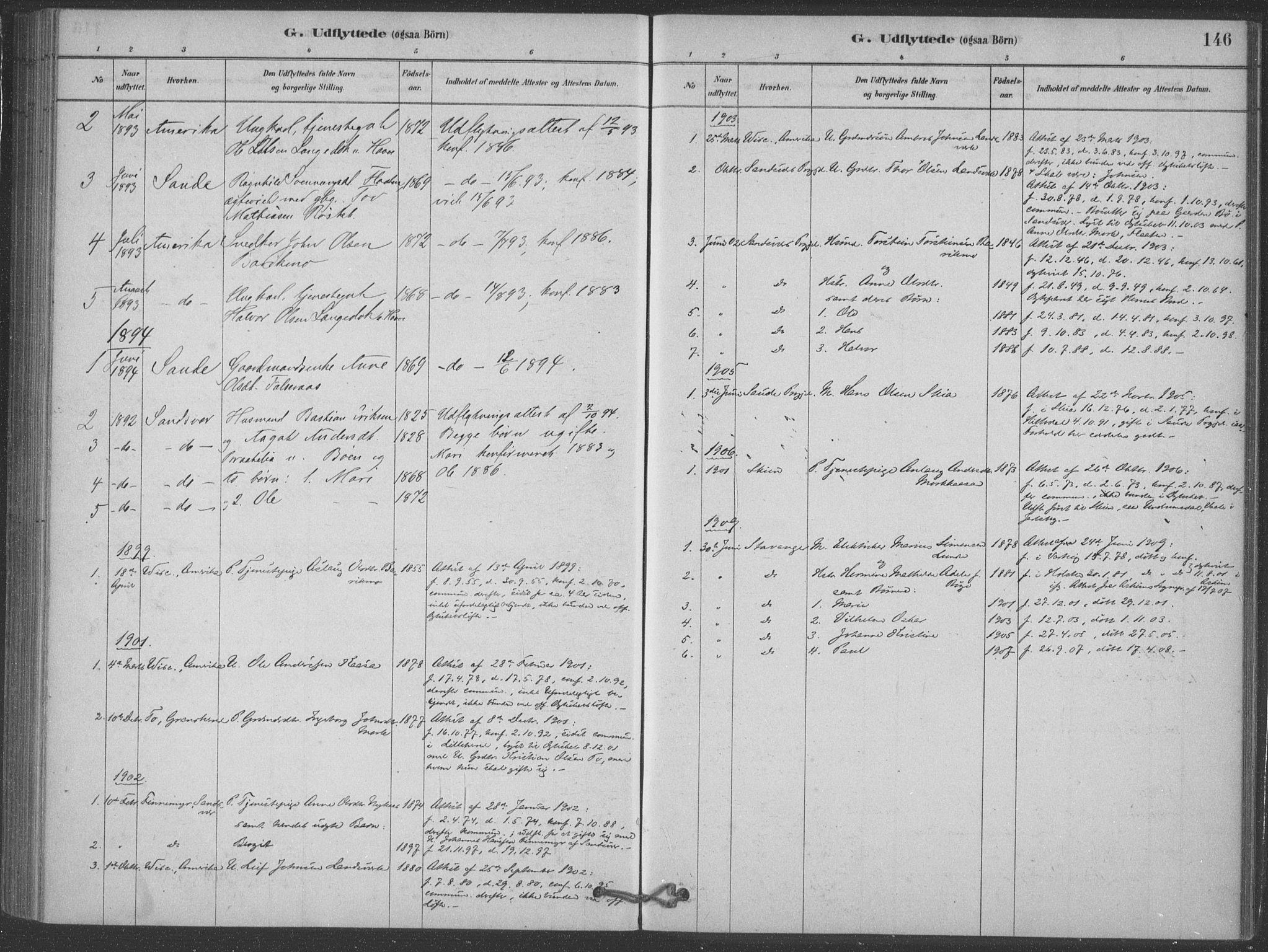 SAKO, Heddal kirkebøker, F/Fb/L0002: Ministerialbok nr. II 2, 1878-1913, s. 146