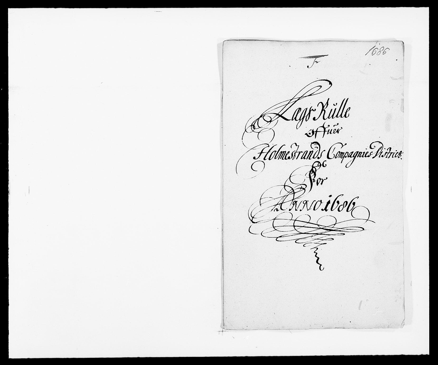 RA, Rentekammeret inntil 1814, Reviderte regnskaper, Fogderegnskap, R32/L1857: Fogderegnskap Jarlsberg grevskap, 1686-1690, s. 278
