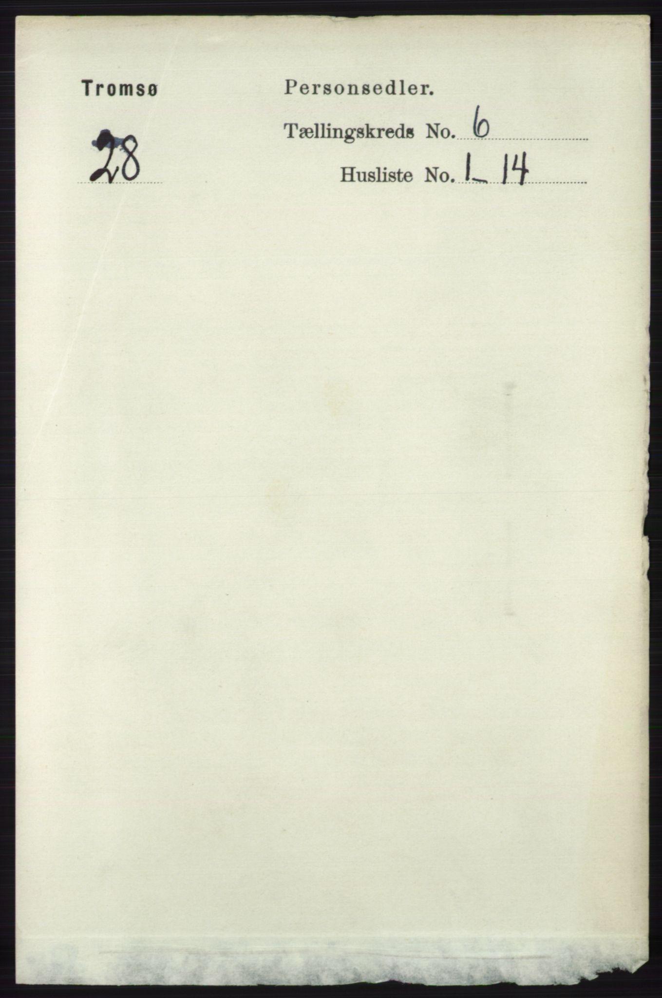 RA, Folketelling 1891 for 1902 Tromsø kjøpstad, 1891, s. 5553