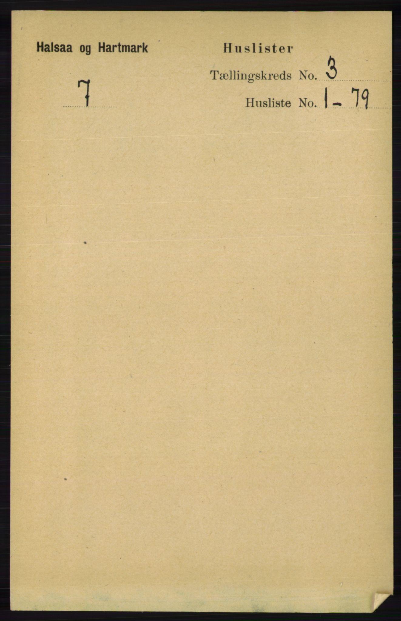 RA, Folketelling 1891 for 1019 Halse og Harkmark herred, 1891, s. 935