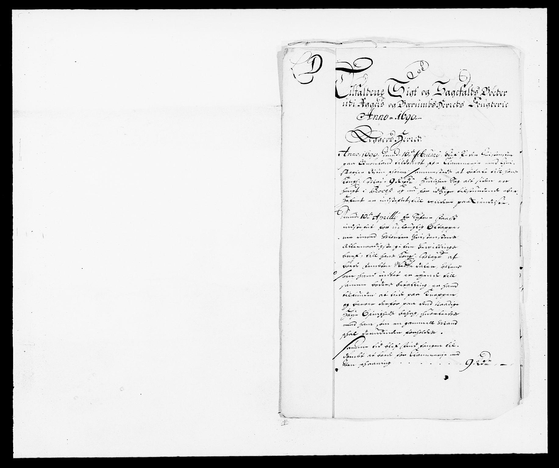 RA, Rentekammeret inntil 1814, Reviderte regnskaper, Fogderegnskap, R08/L0423: Fogderegnskap Aker, 1687-1689, s. 193