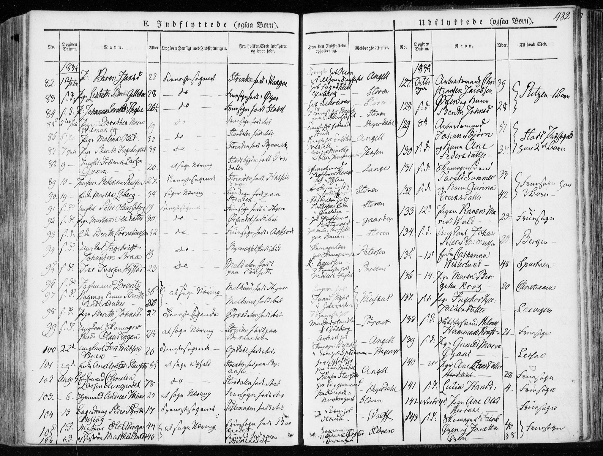 SAT, Ministerialprotokoller, klokkerbøker og fødselsregistre - Sør-Trøndelag, 601/L0047: Ministerialbok nr. 601A15, 1831-1839, s. 482