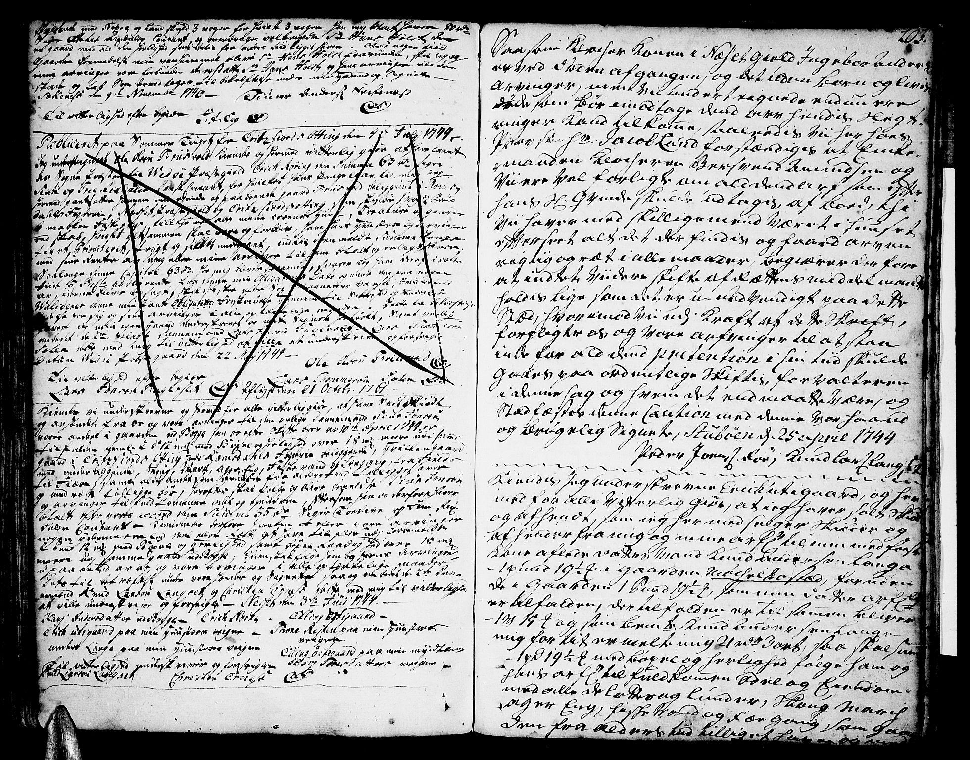 SAT, Romsdal sorenskriveri, 2/2C/L0002: Pantebok nr. 2, 1731-1745, s. 203