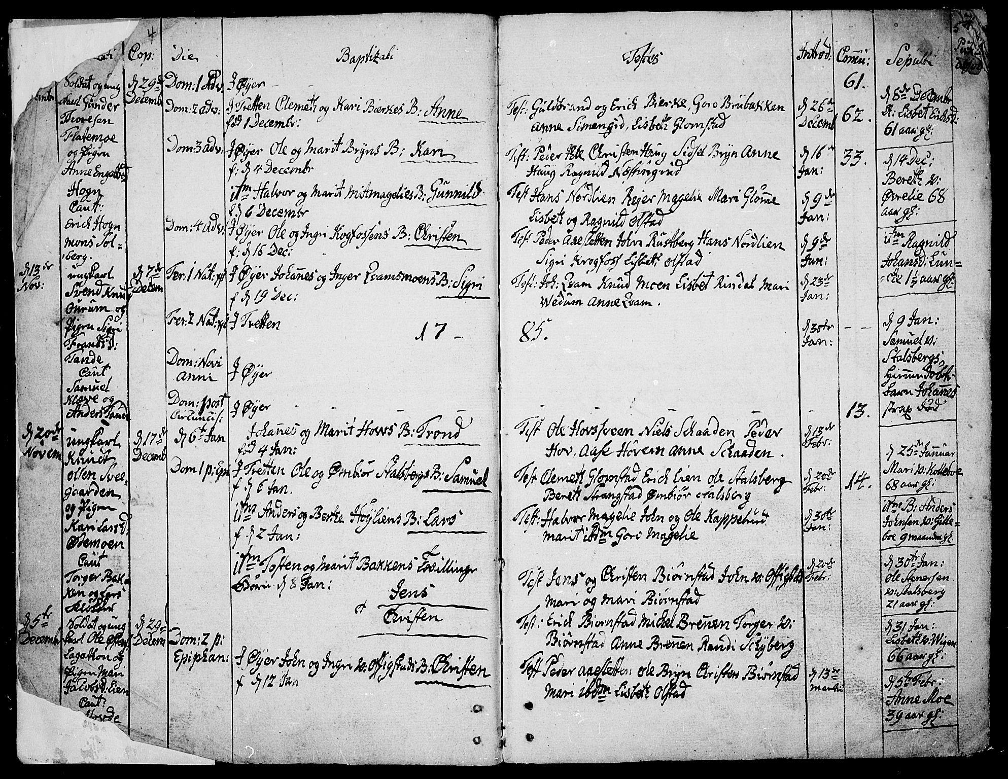 SAH, Øyer prestekontor, Ministerialbok nr. 3, 1784-1824, s. 4-5