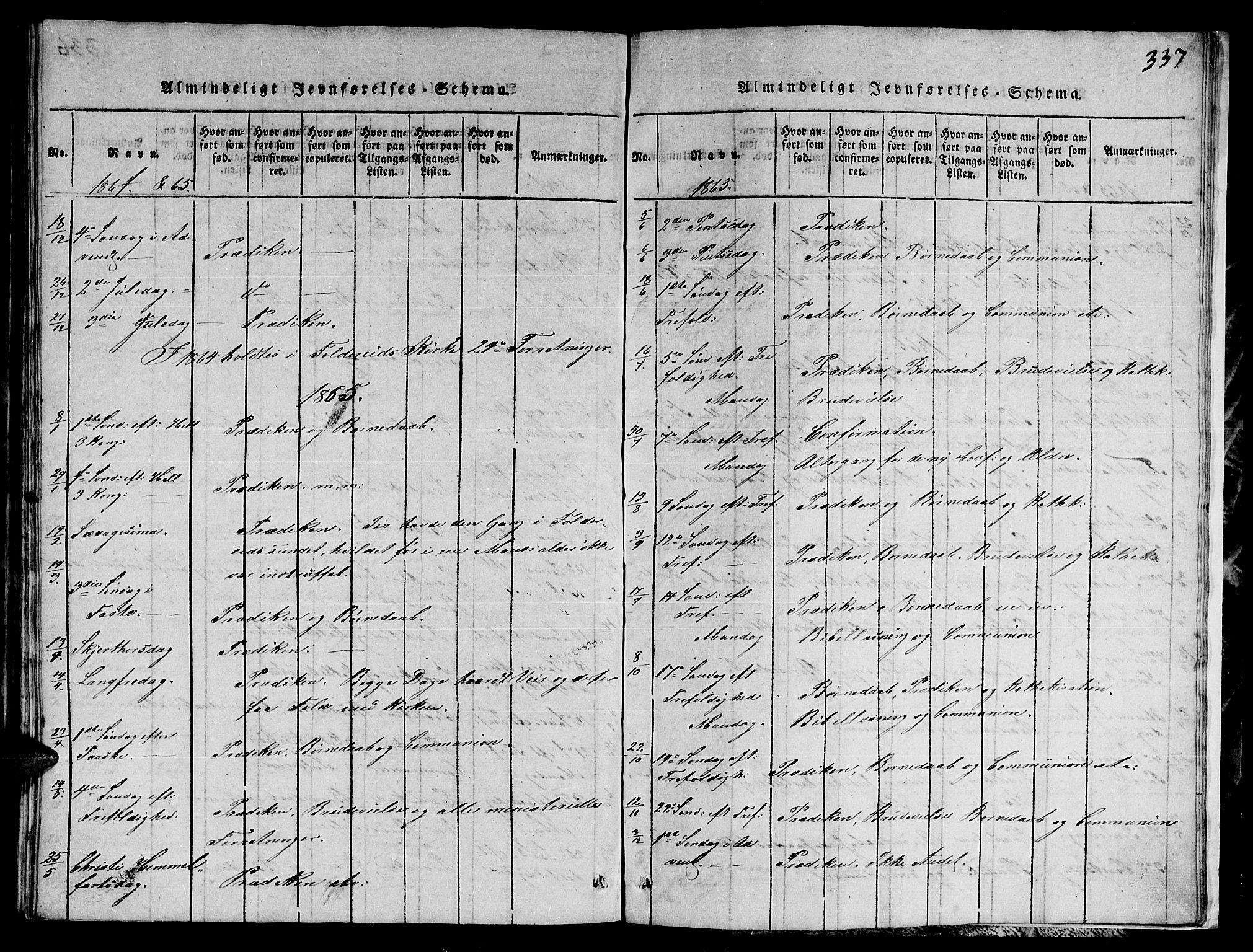 SAT, Ministerialprotokoller, klokkerbøker og fødselsregistre - Nord-Trøndelag, 780/L0648: Klokkerbok nr. 780C01 /1, 1815-1870, s. 337