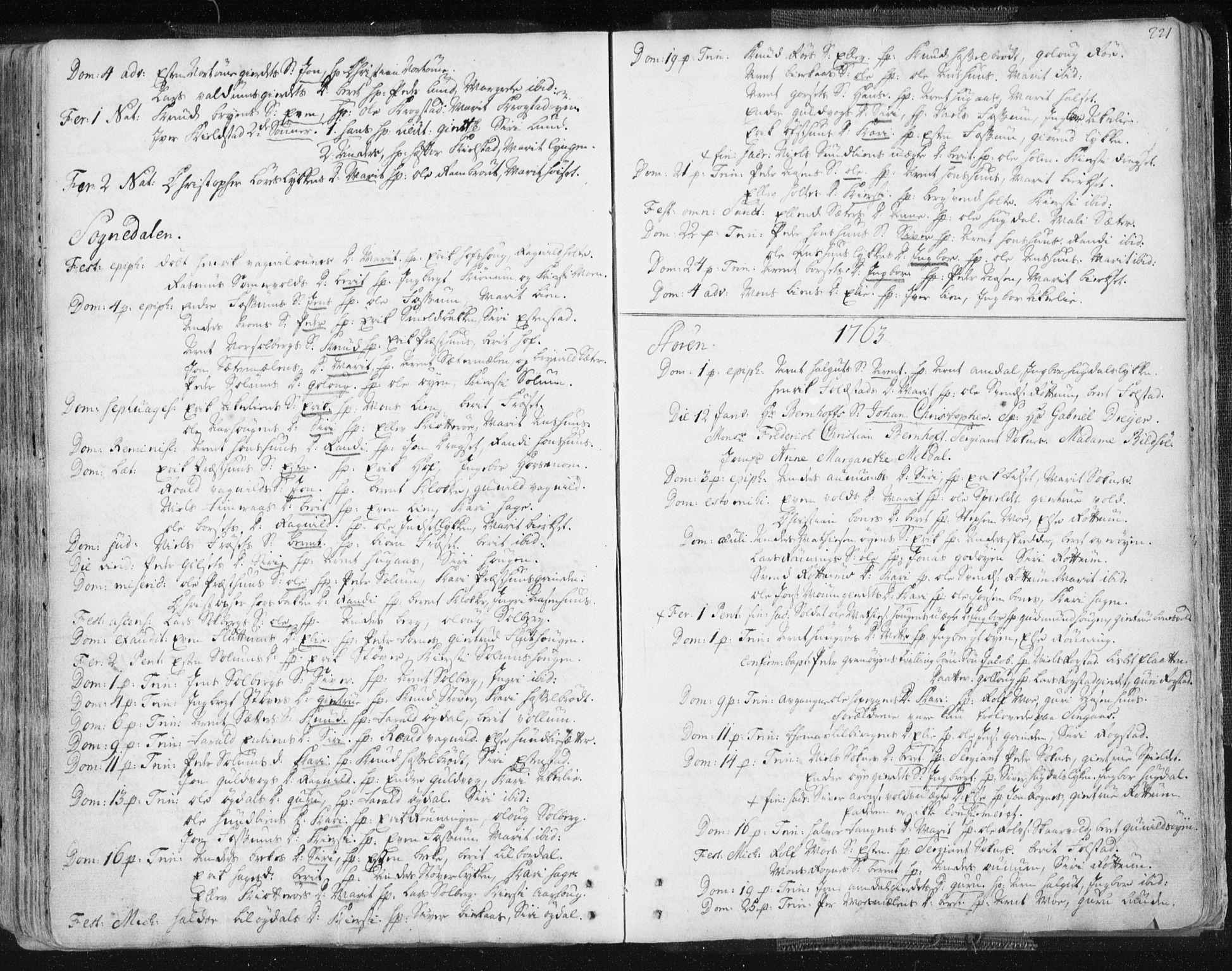 SAT, Ministerialprotokoller, klokkerbøker og fødselsregistre - Sør-Trøndelag, 687/L0991: Ministerialbok nr. 687A02, 1747-1790, s. 221