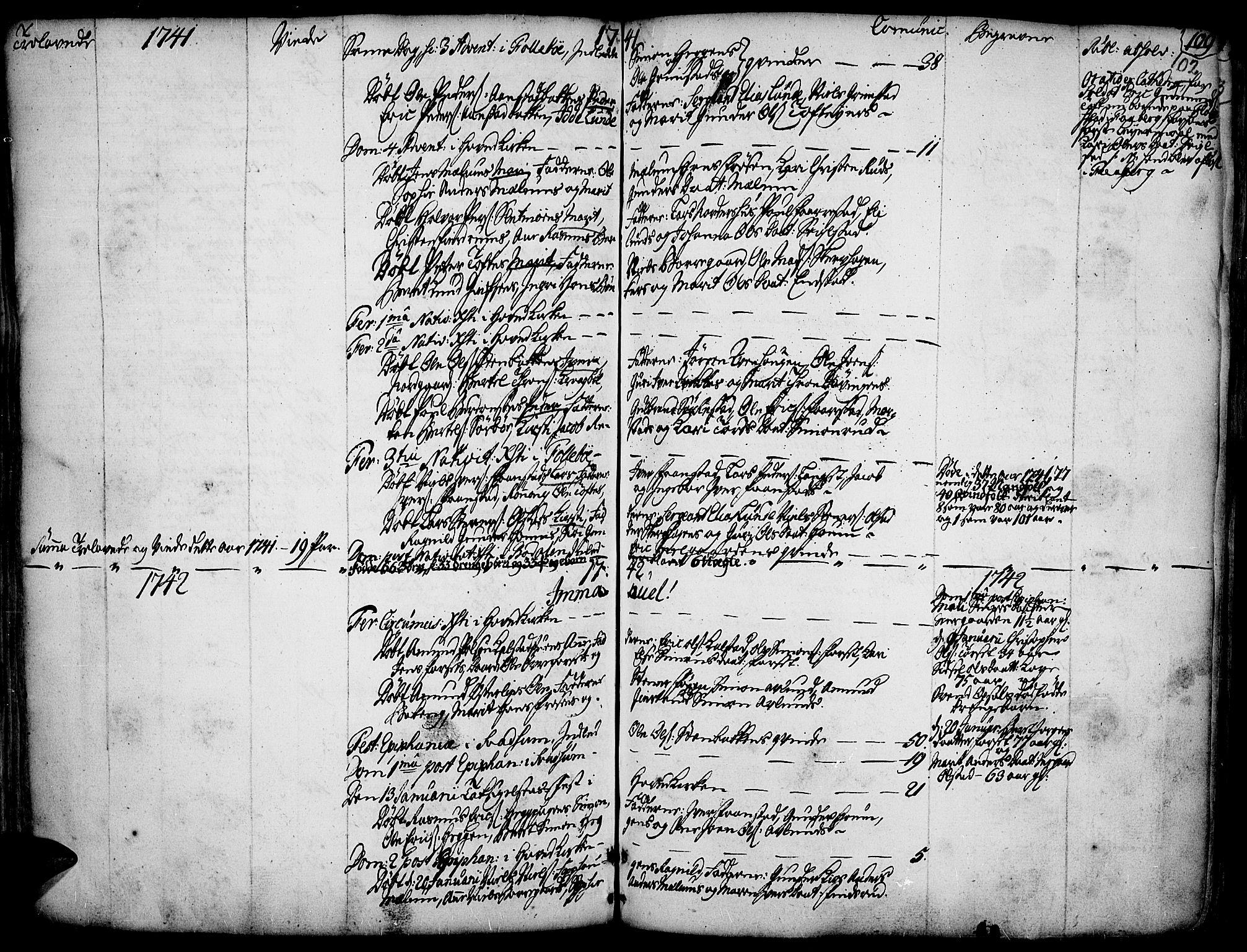 SAH, Gausdal prestekontor, Ministerialbok nr. 2, 1729-1757, s. 102