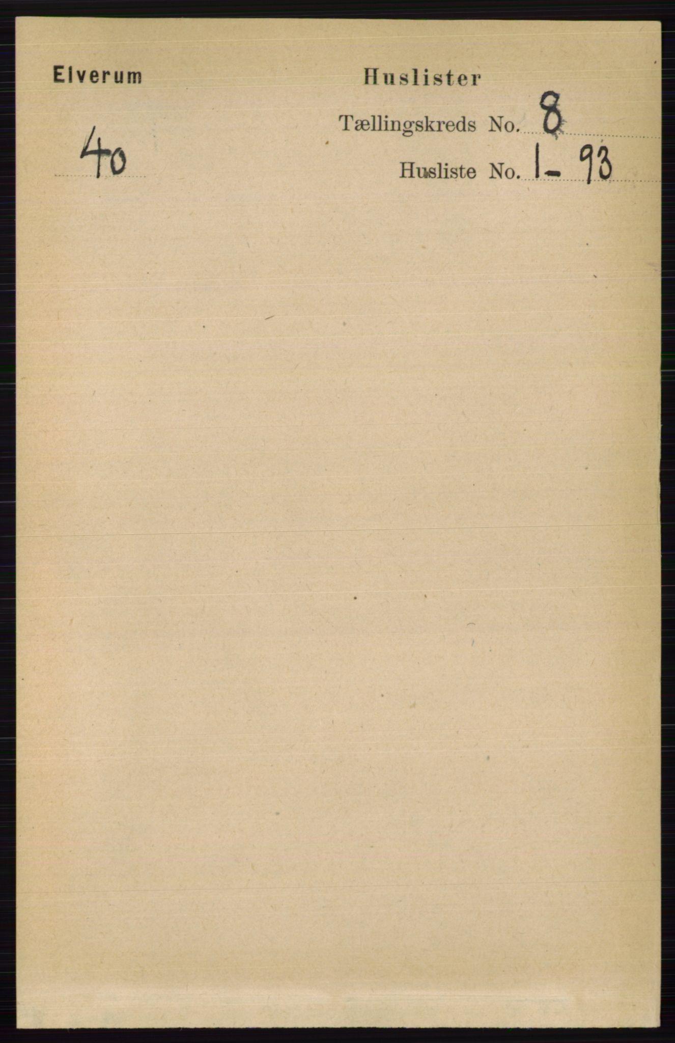 RA, Folketelling 1891 for 0427 Elverum herred, 1891, s. 6914