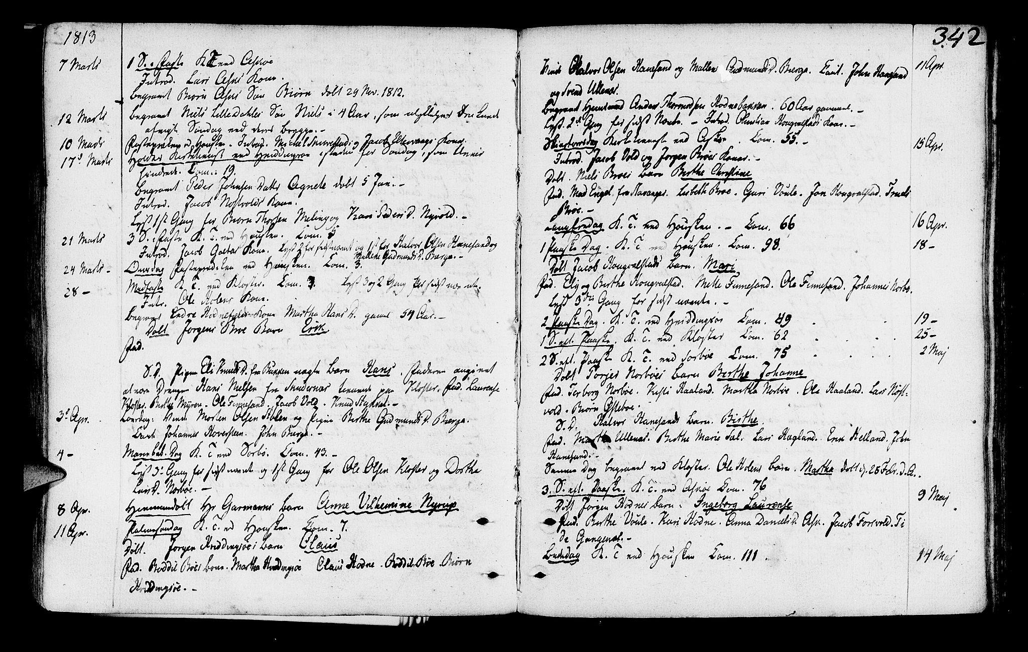 SAST, Rennesøy sokneprestkontor, H/Ha/Haa/L0003: Ministerialbok nr. A 3, 1772-1815, s. 342