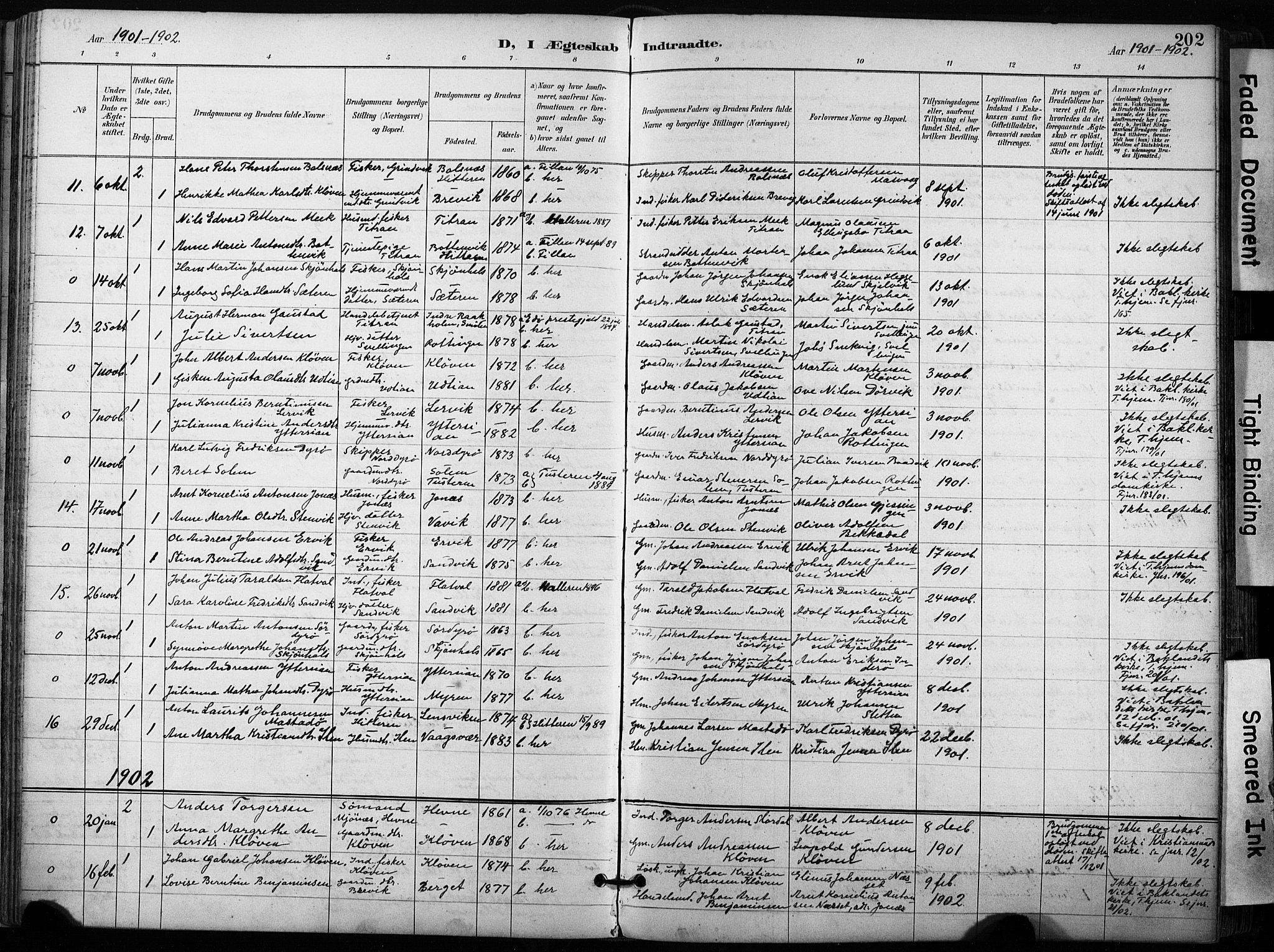 SAT, Ministerialprotokoller, klokkerbøker og fødselsregistre - Sør-Trøndelag, 640/L0579: Ministerialbok nr. 640A04, 1889-1902, s. 202