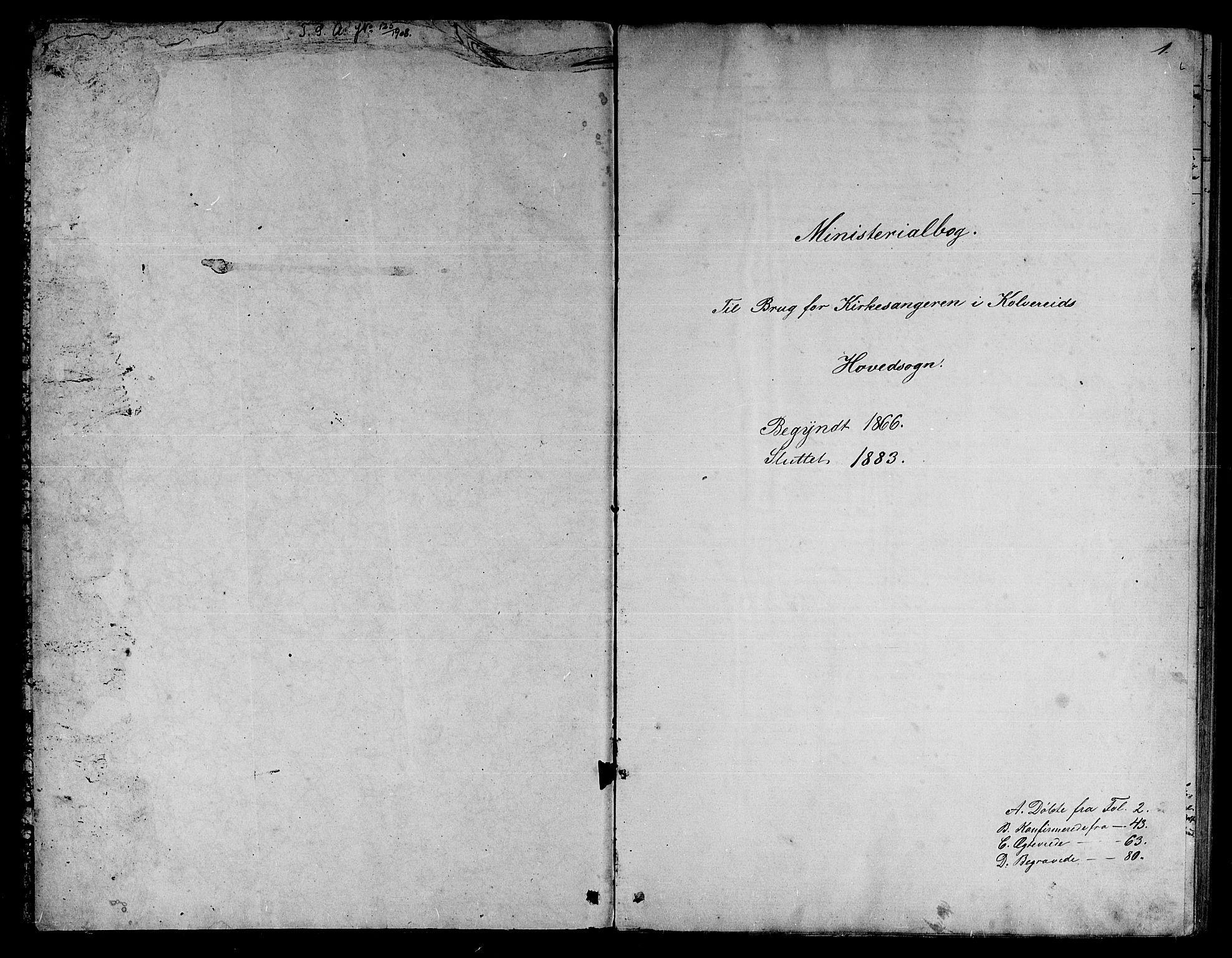 SAT, Ministerialprotokoller, klokkerbøker og fødselsregistre - Nord-Trøndelag, 780/L0650: Klokkerbok nr. 780C02, 1866-1884, s. 1
