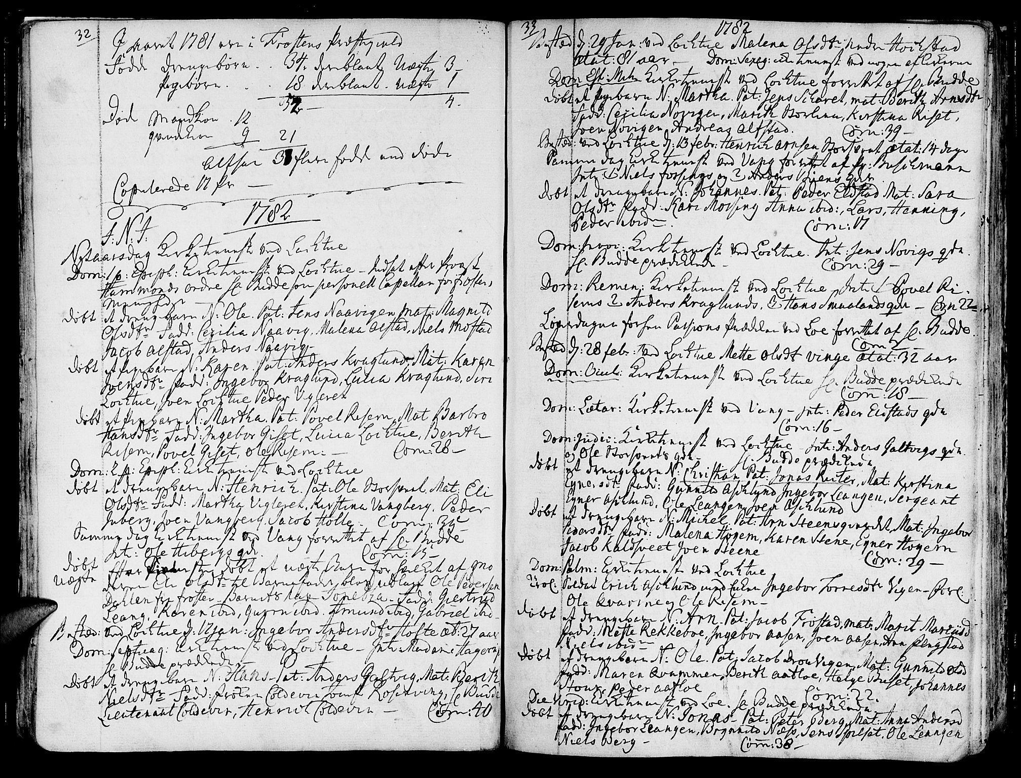 SAT, Ministerialprotokoller, klokkerbøker og fødselsregistre - Nord-Trøndelag, 713/L0110: Ministerialbok nr. 713A02, 1778-1811, s. 32-33