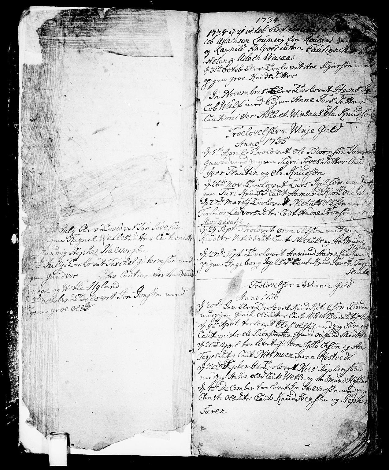 SAKO, Vinje kirkebøker, F/Fa/L0001: Ministerialbok nr. I 1, 1717-1766, s. 6