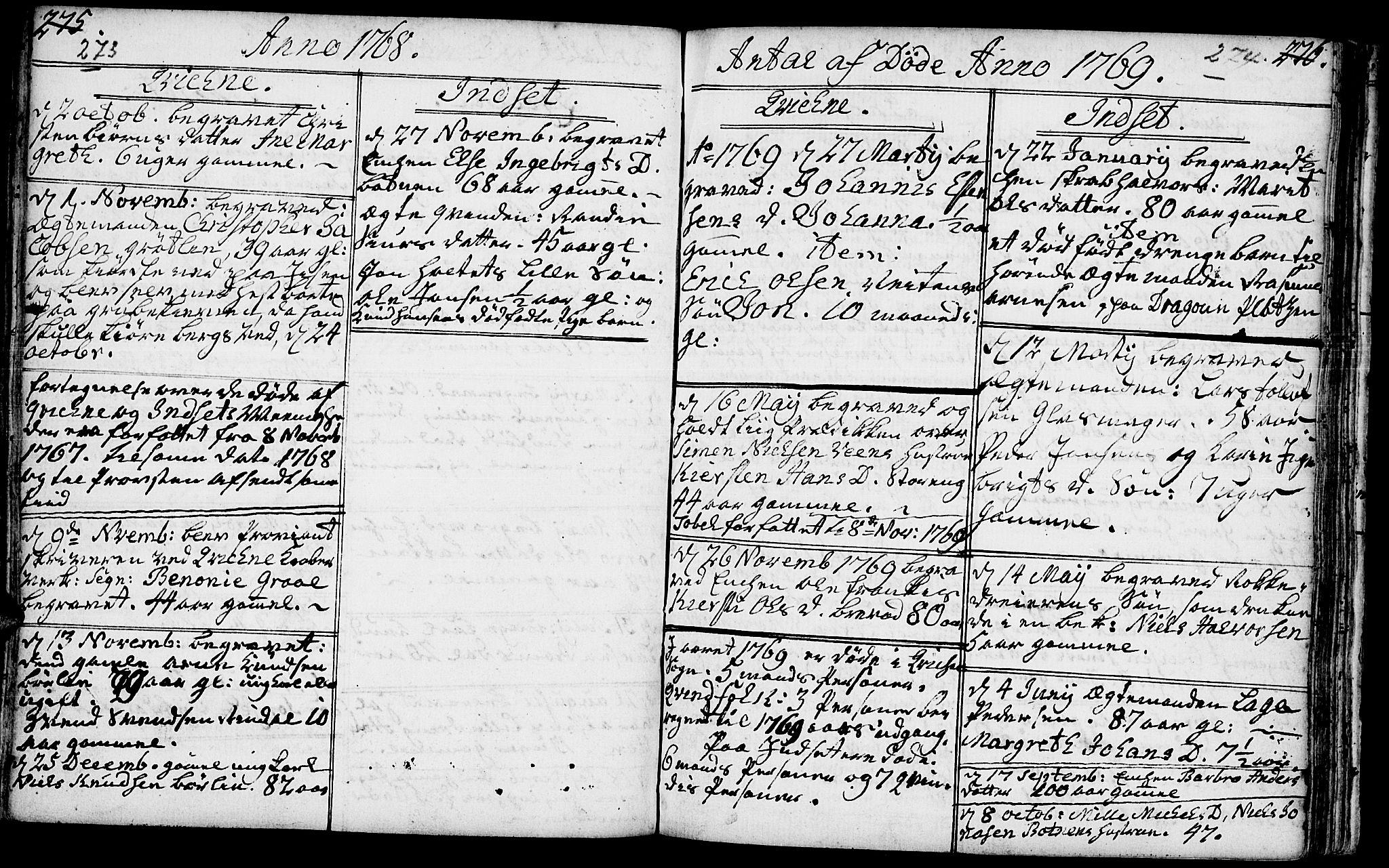 SAH, Kvikne prestekontor, Ministerialbok nr. 2, 1764-1784, s. 273-274