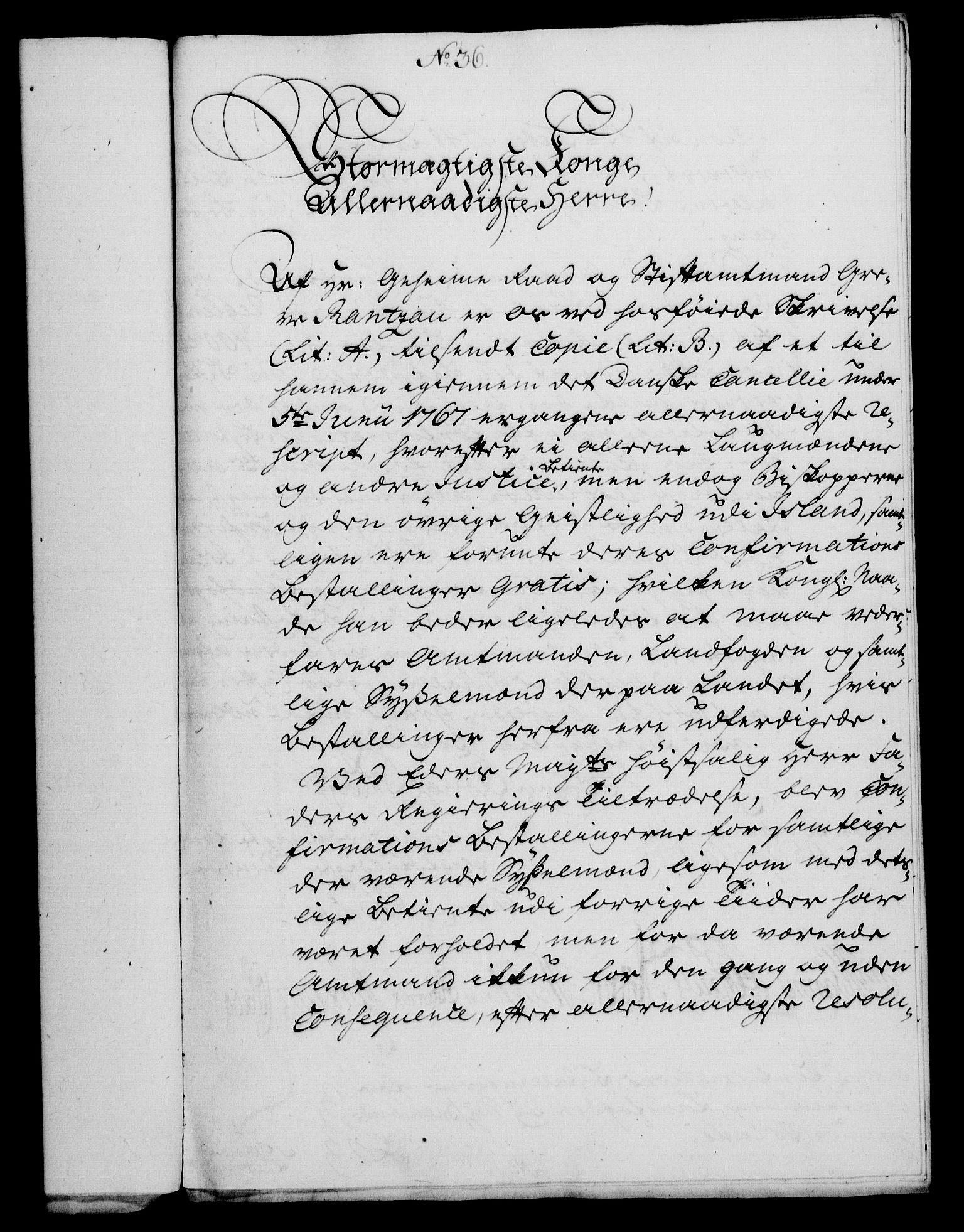 RA, Rentekammeret, Kammerkanselliet, G/Gf/Gfa/L0050: Norsk relasjons- og resolusjonsprotokoll (merket RK 52.50), 1768, s. 166