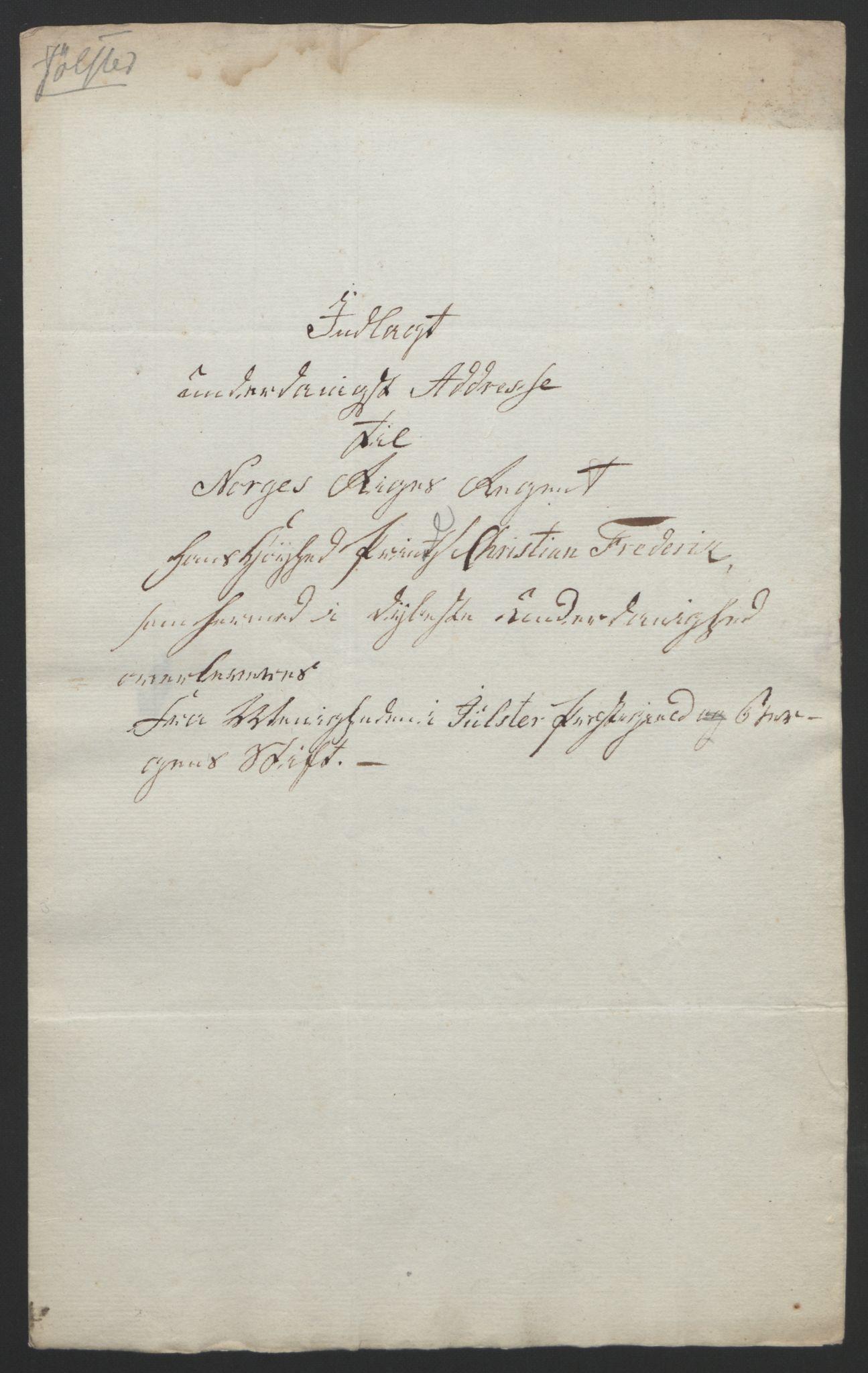 RA, Statsrådssekretariatet, D/Db/L0008: Fullmakter for Eidsvollsrepresentantene i 1814. , 1814, s. 330