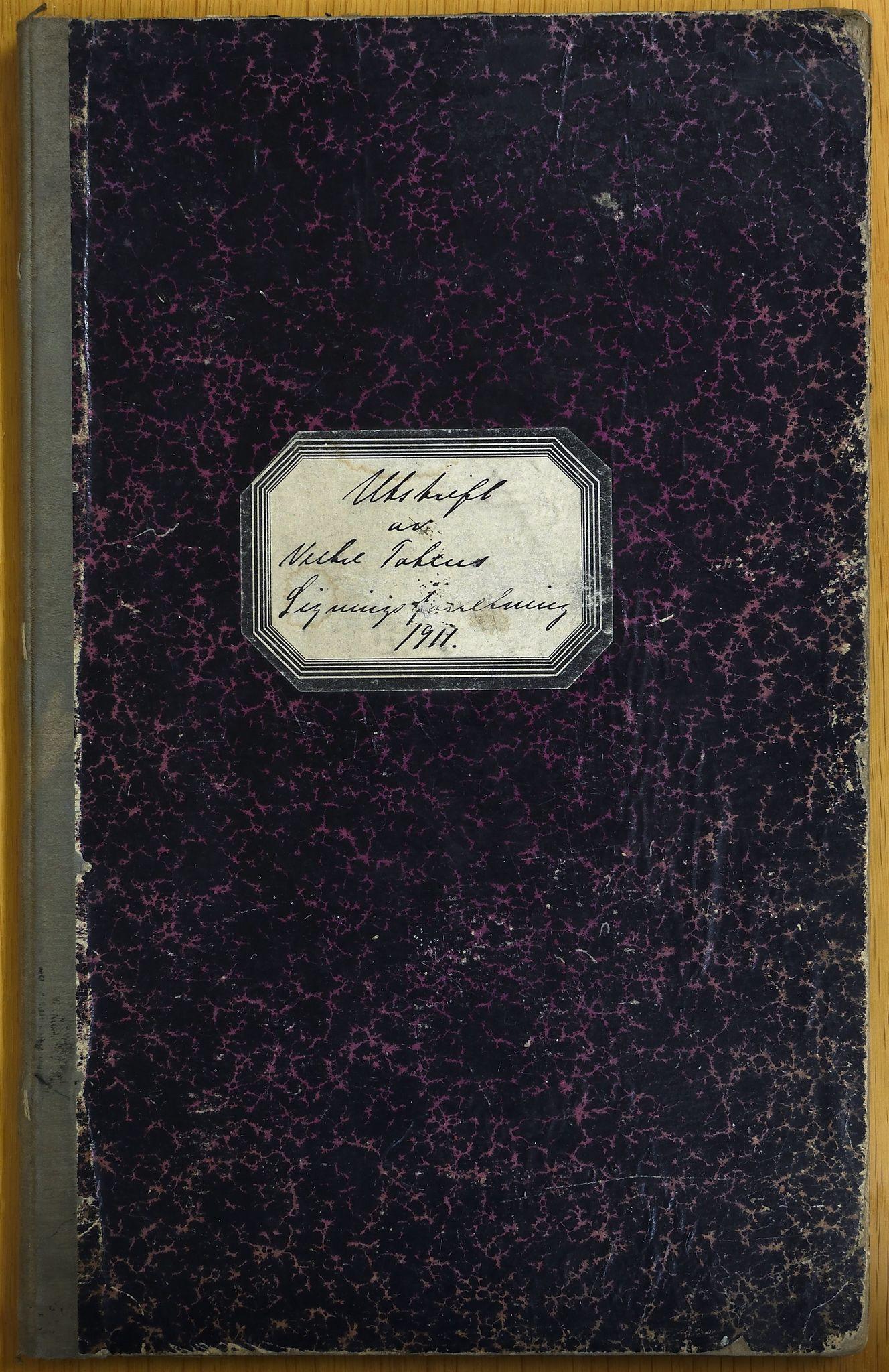 KVT, Vestre Toten kommunearkiv: Utskrift av ligningsprotokollen for budsjettåret 1911-1912 for Vestre Toten skattedistrikt, 1911-1912